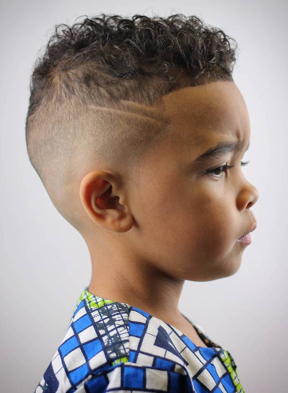 Curly Top with Twin Hairline