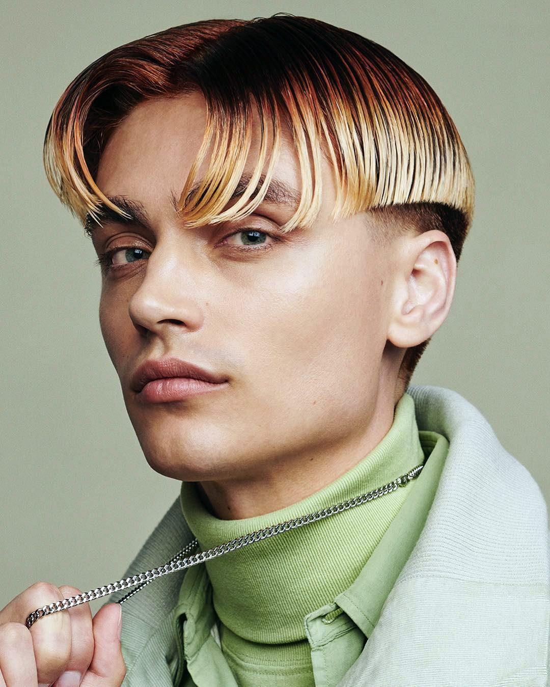Curtain-Mushroom Ombre Hair