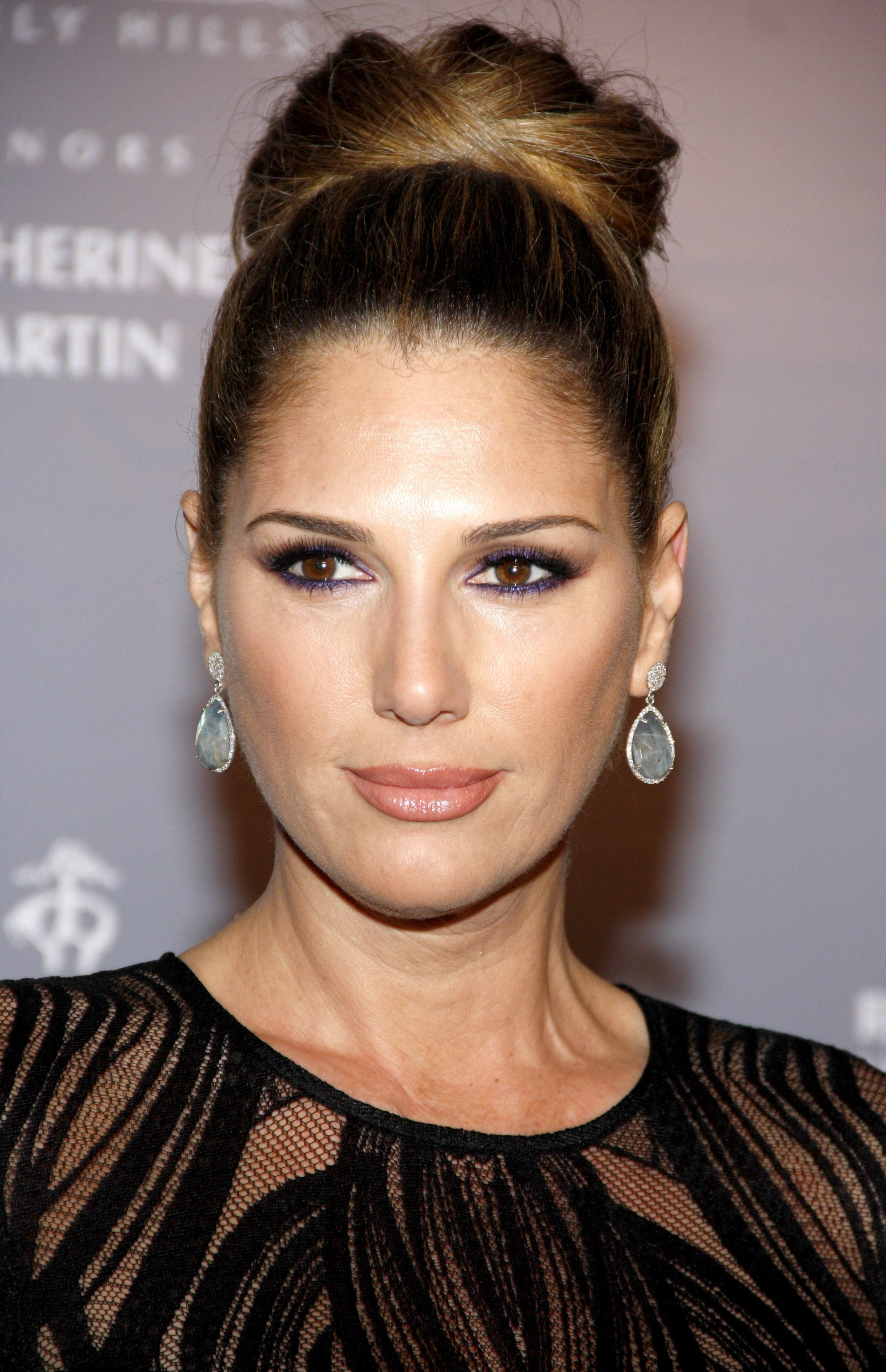 Daisy Fuentes with that Crown Bun