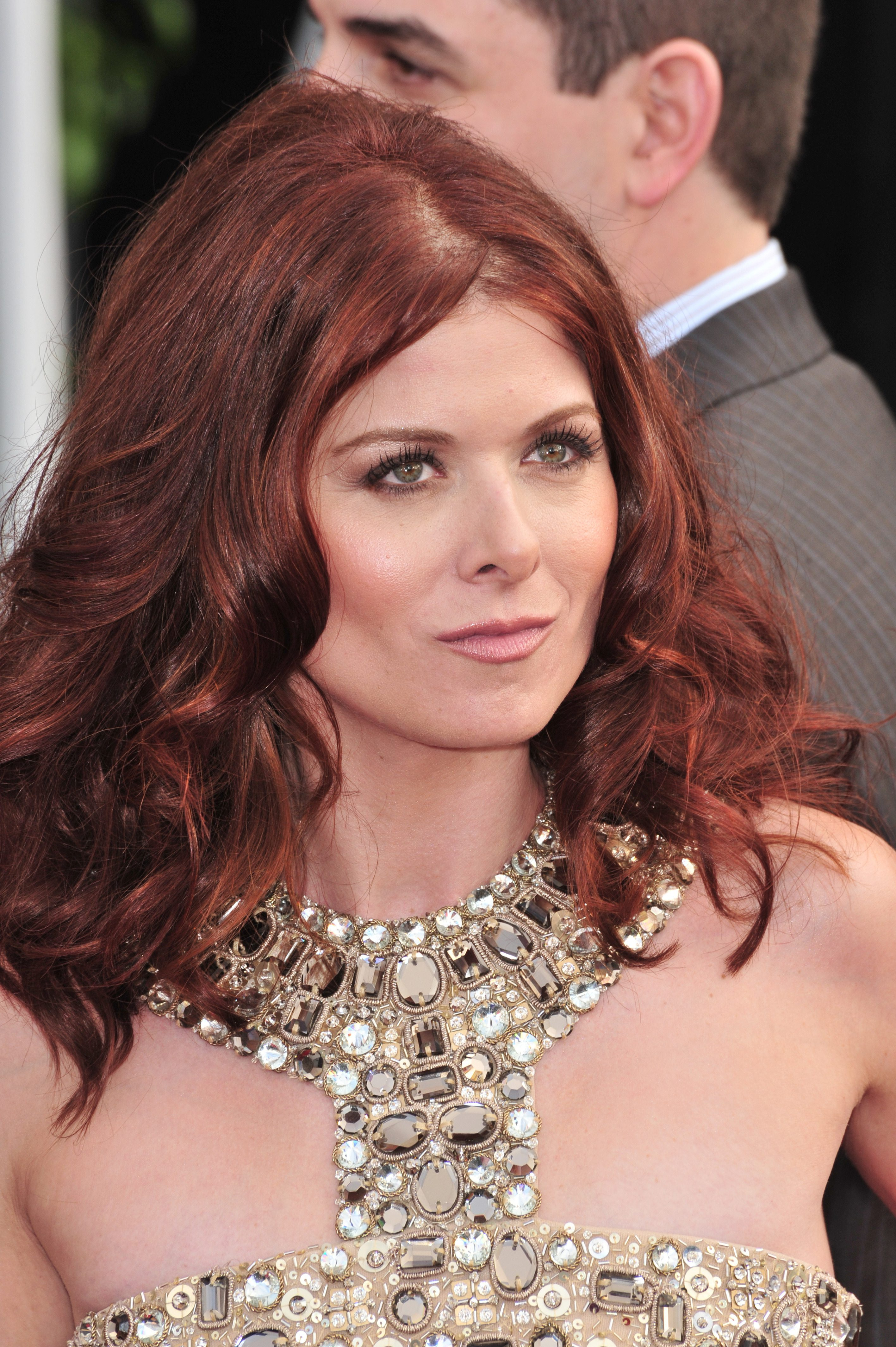 Debra Messing's Mulled Wine Hairstyle