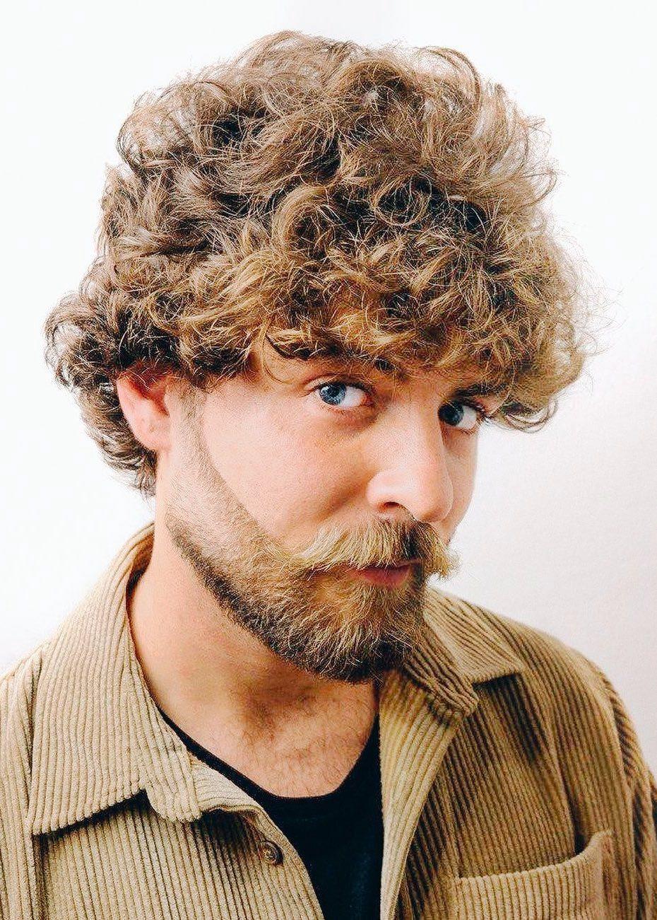 Dense Curly Shag with Fancy Beard