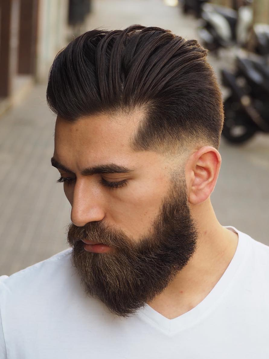 Densely Populated Drop Down Beard
