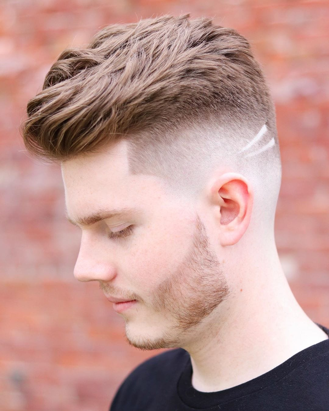 Elegant High Fade with Tapered Line Up