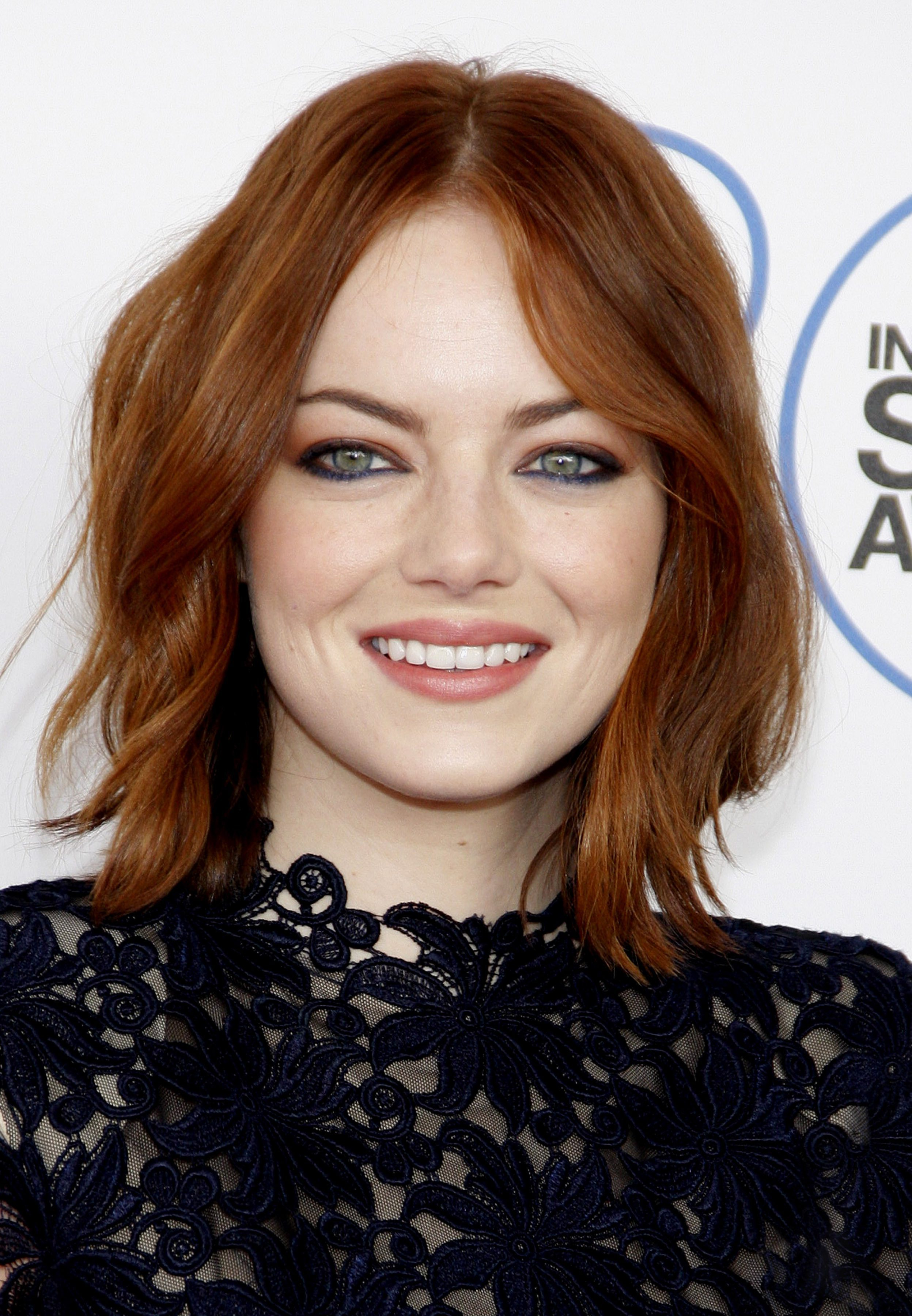 Emma Stone's Red Hair with Caramel Highlights