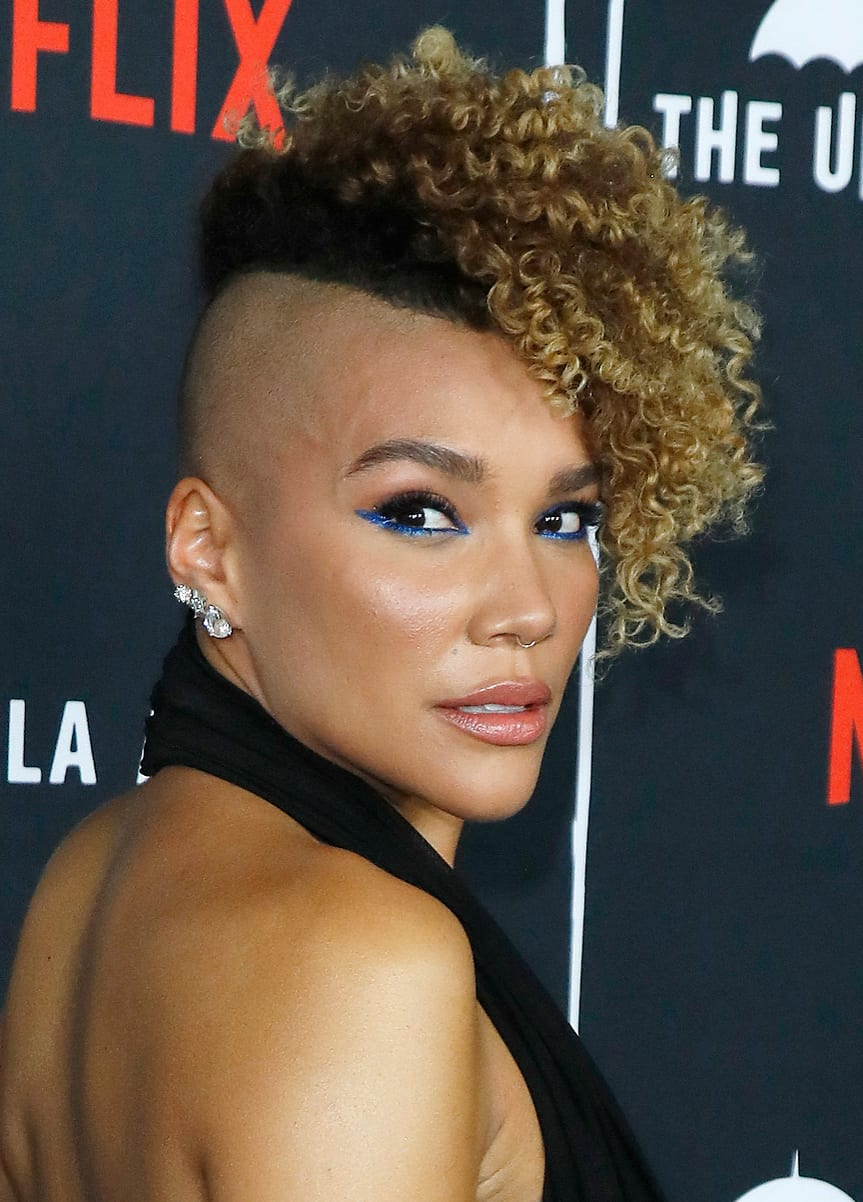 Emmy Raver-Lampman's Shaved Look