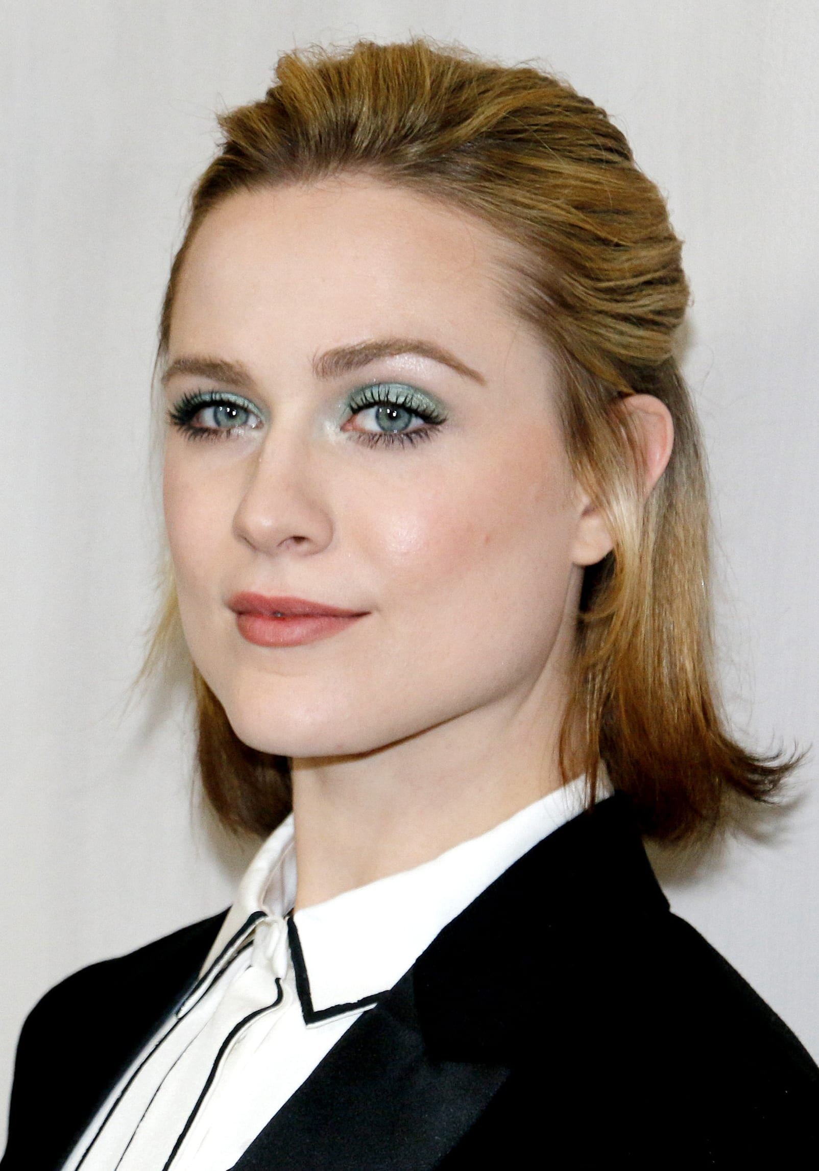 Evan Rachel Wood's Half Up with Caramel Highlights