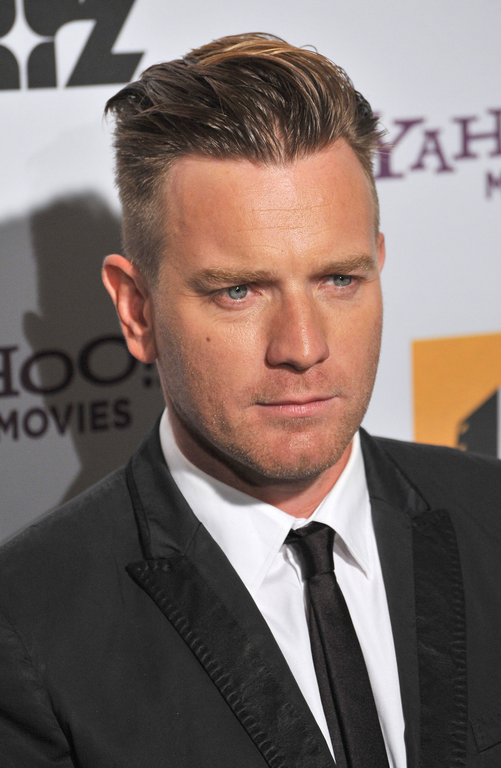 Ewan McGregor slicked back undercut