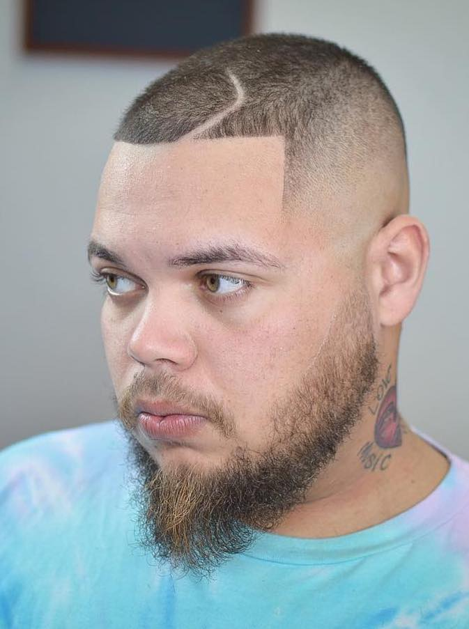 Faded Line Up with Shaved Line