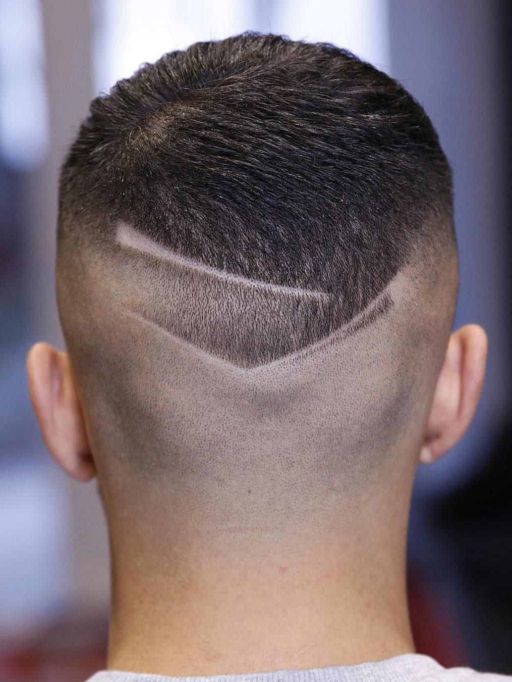 Fancy Shaved Neckline