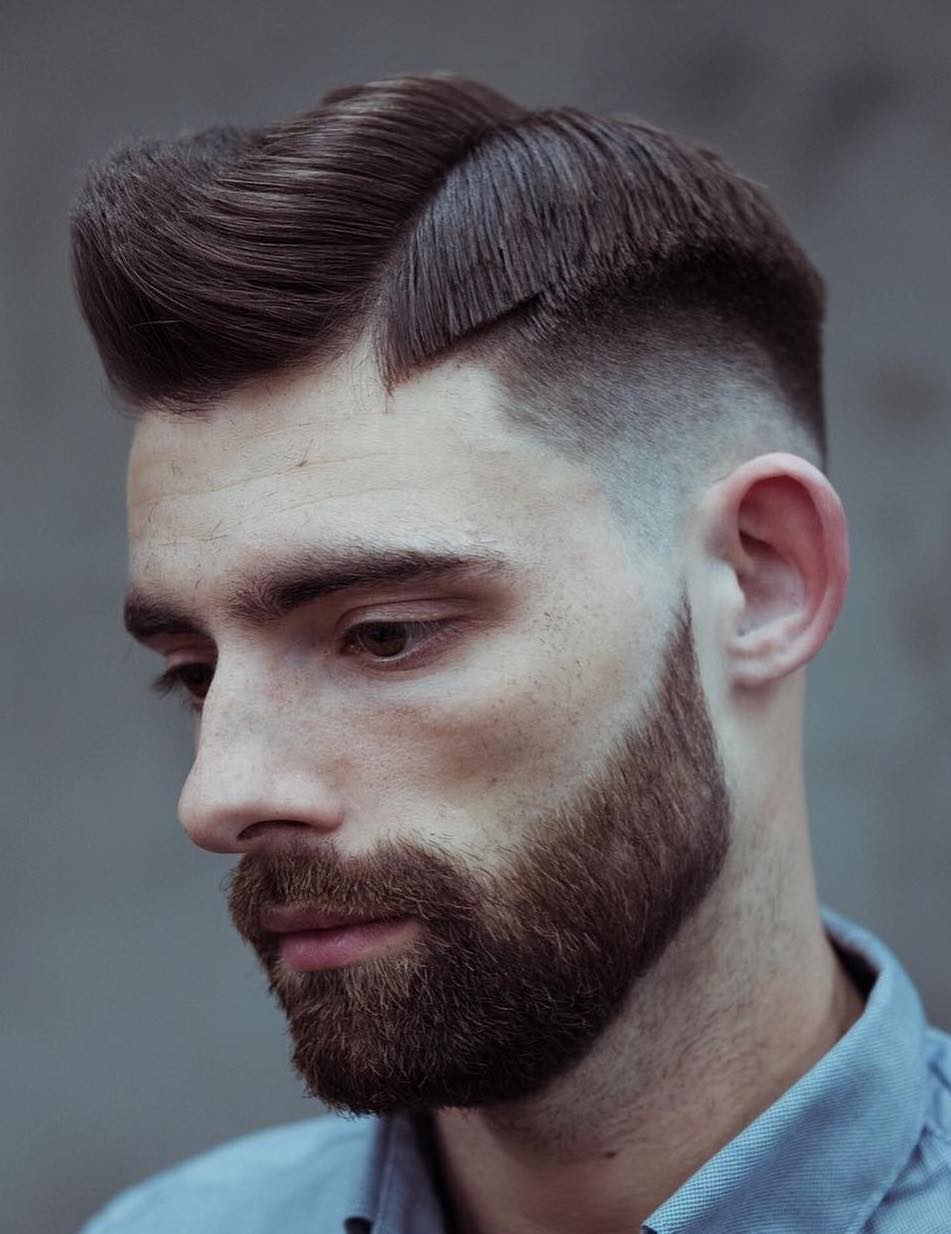 Fine Fade with Side Part