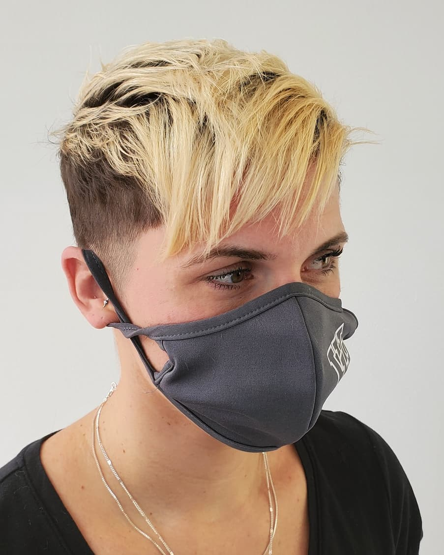 French Cropped Blonde Undercut