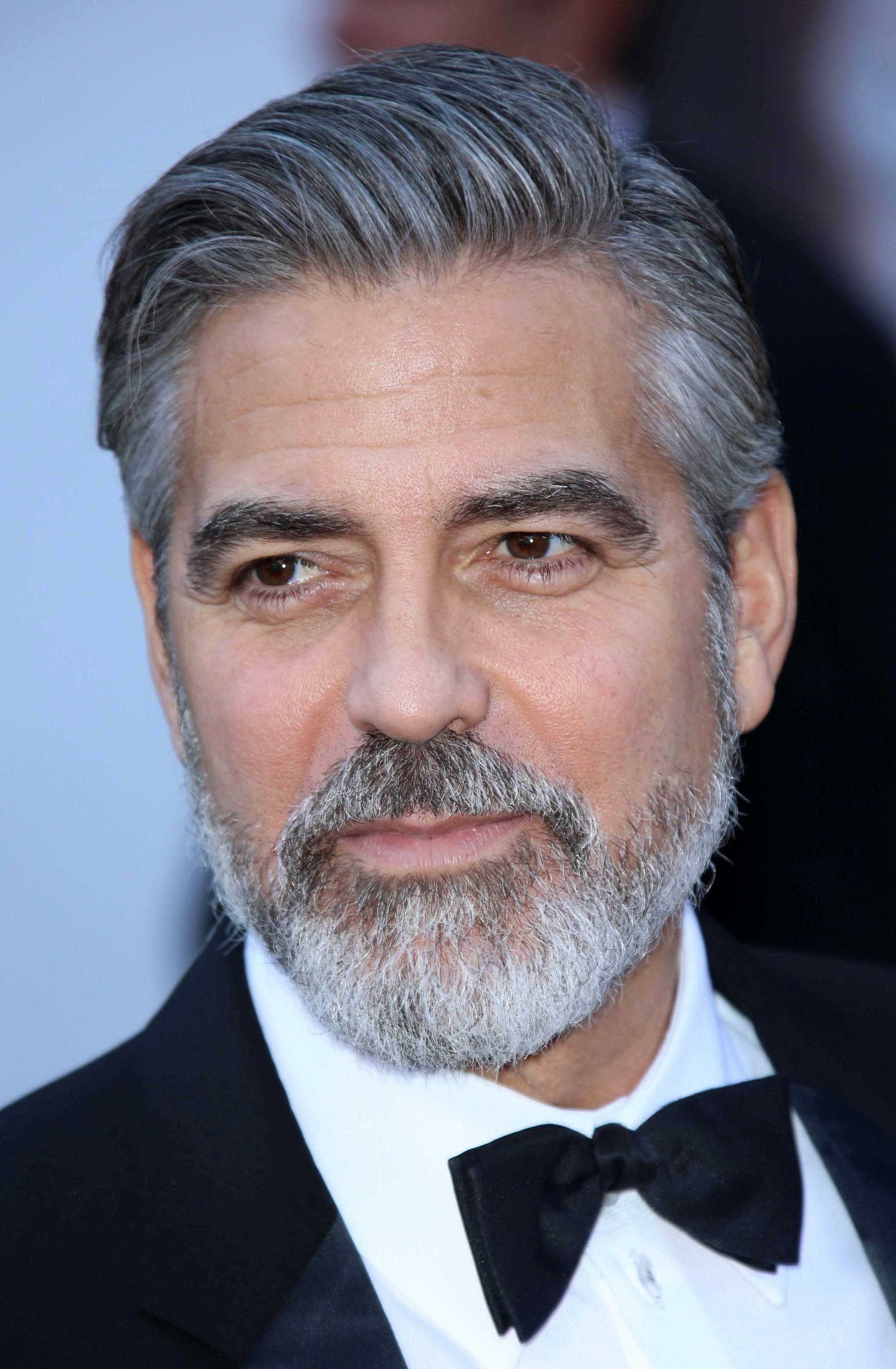 George Clooney's Slicked Back Side Part