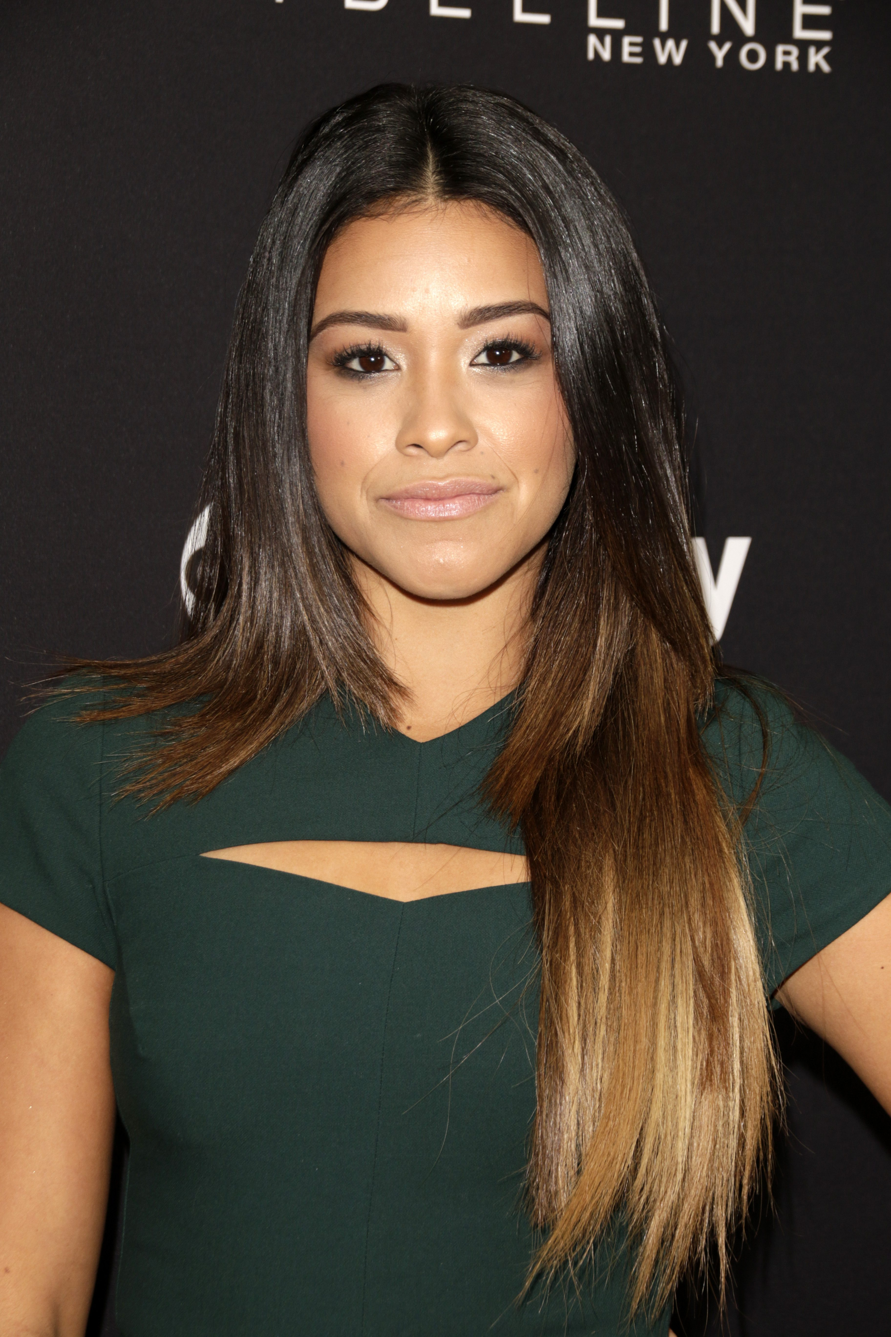 Gina Rodriguez's Ombre Layered Cut