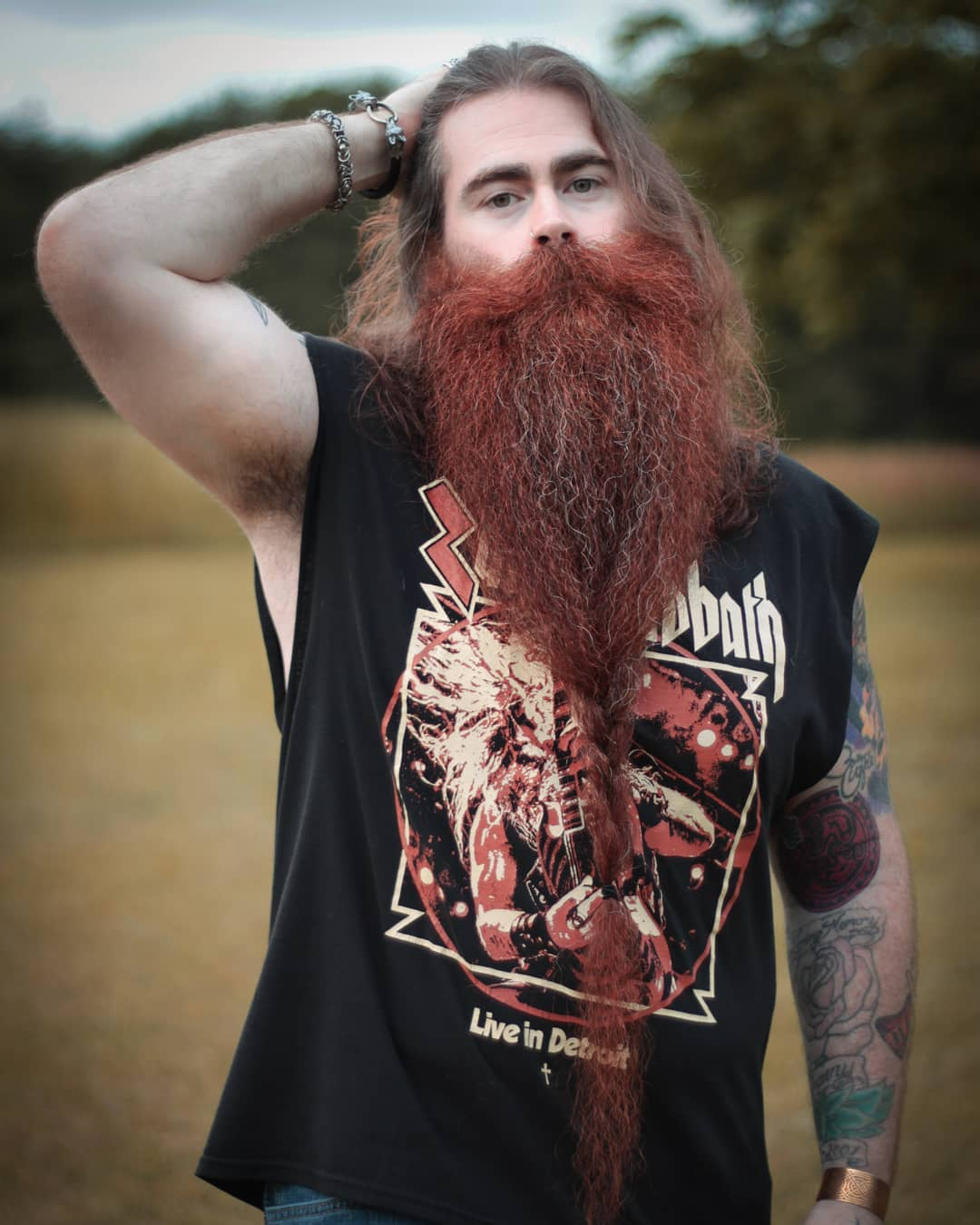 Ginger Grizzly Beard Braid