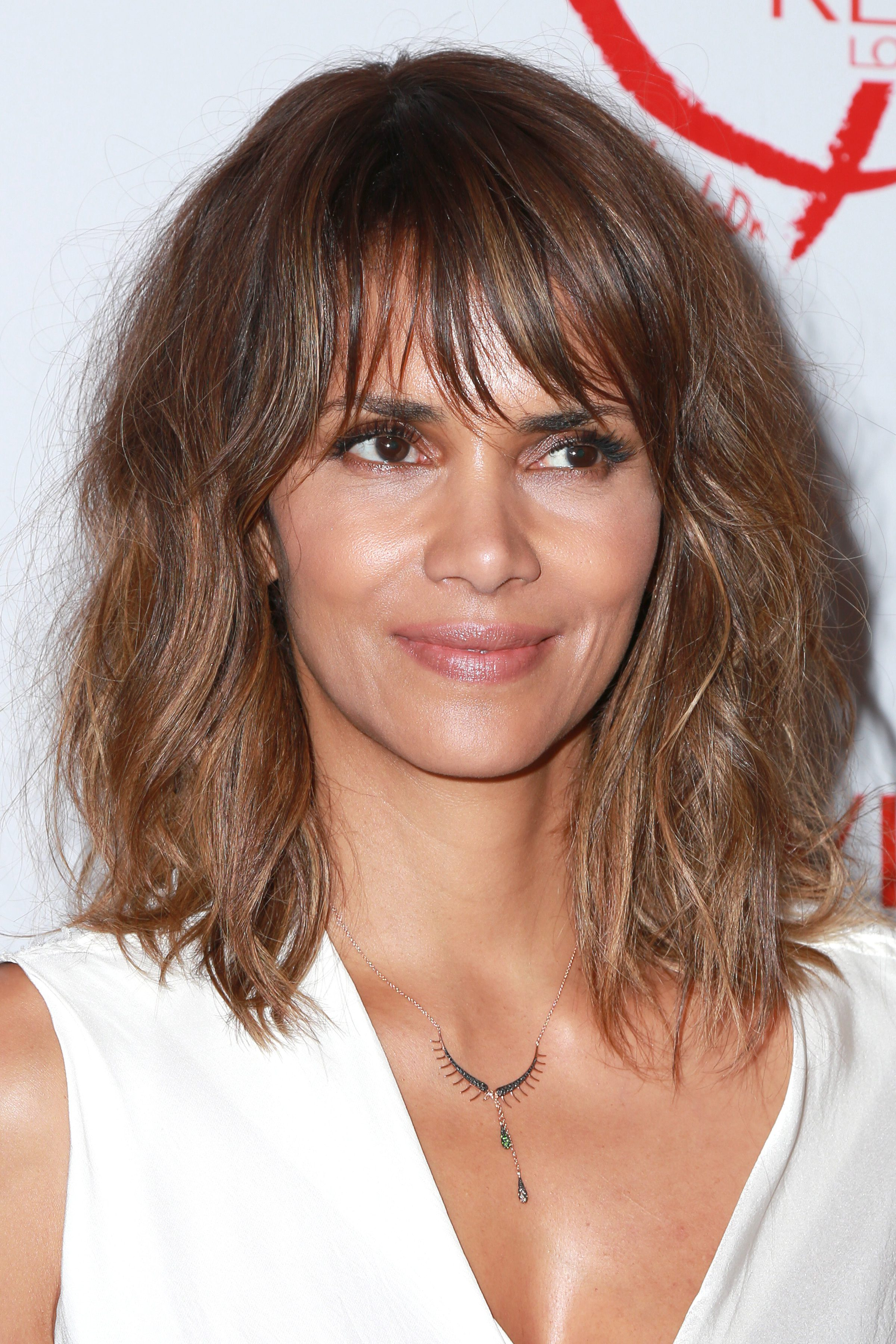 Halle Berry Keeps that Bang Frizzy