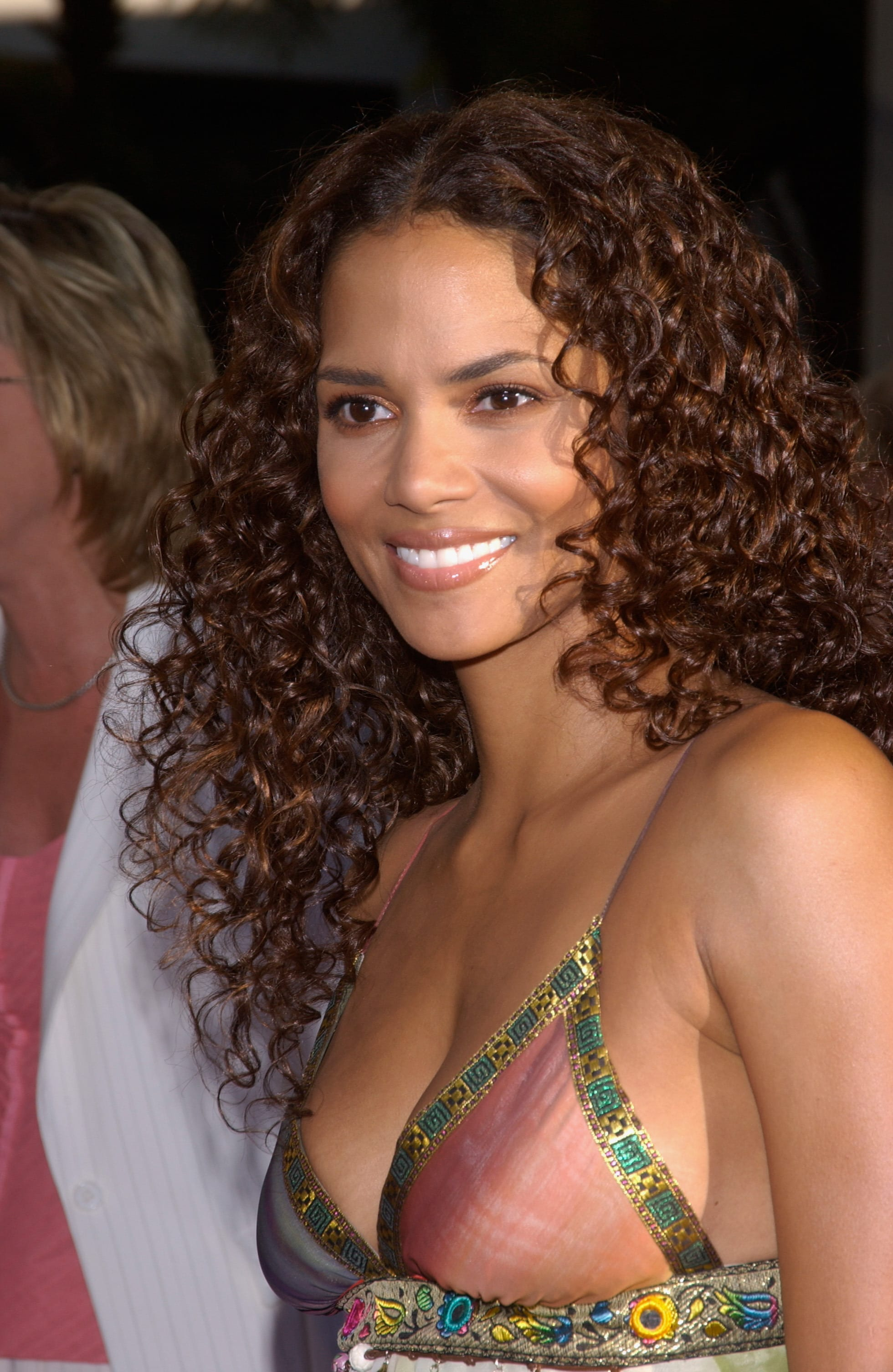 Halle Berry's Long Center-Parted Curls