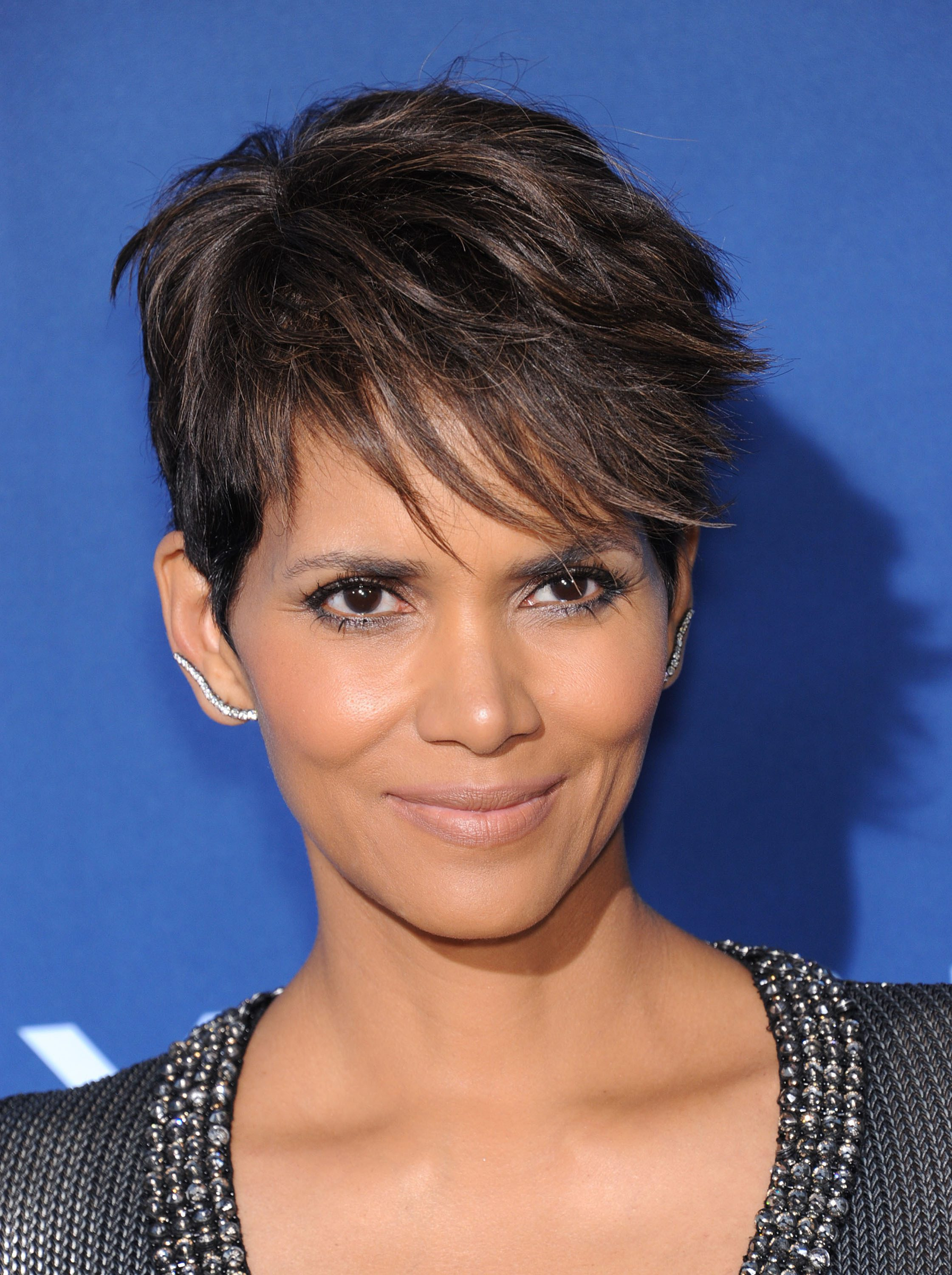 Halle Berry's Pixie With Choppy Side Bangs