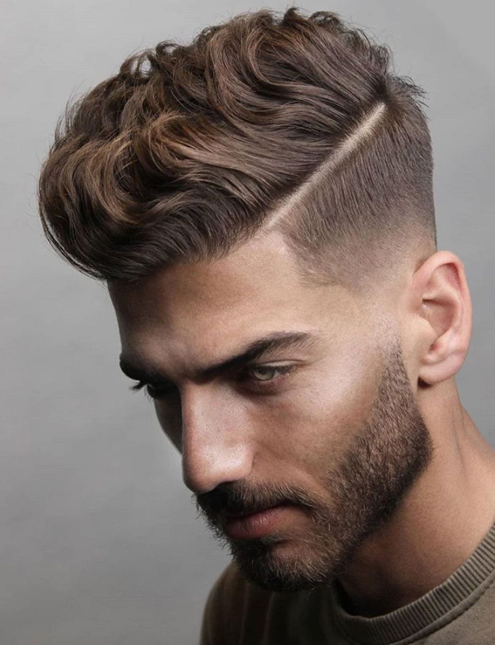Hard Part with Side Brushed Fade