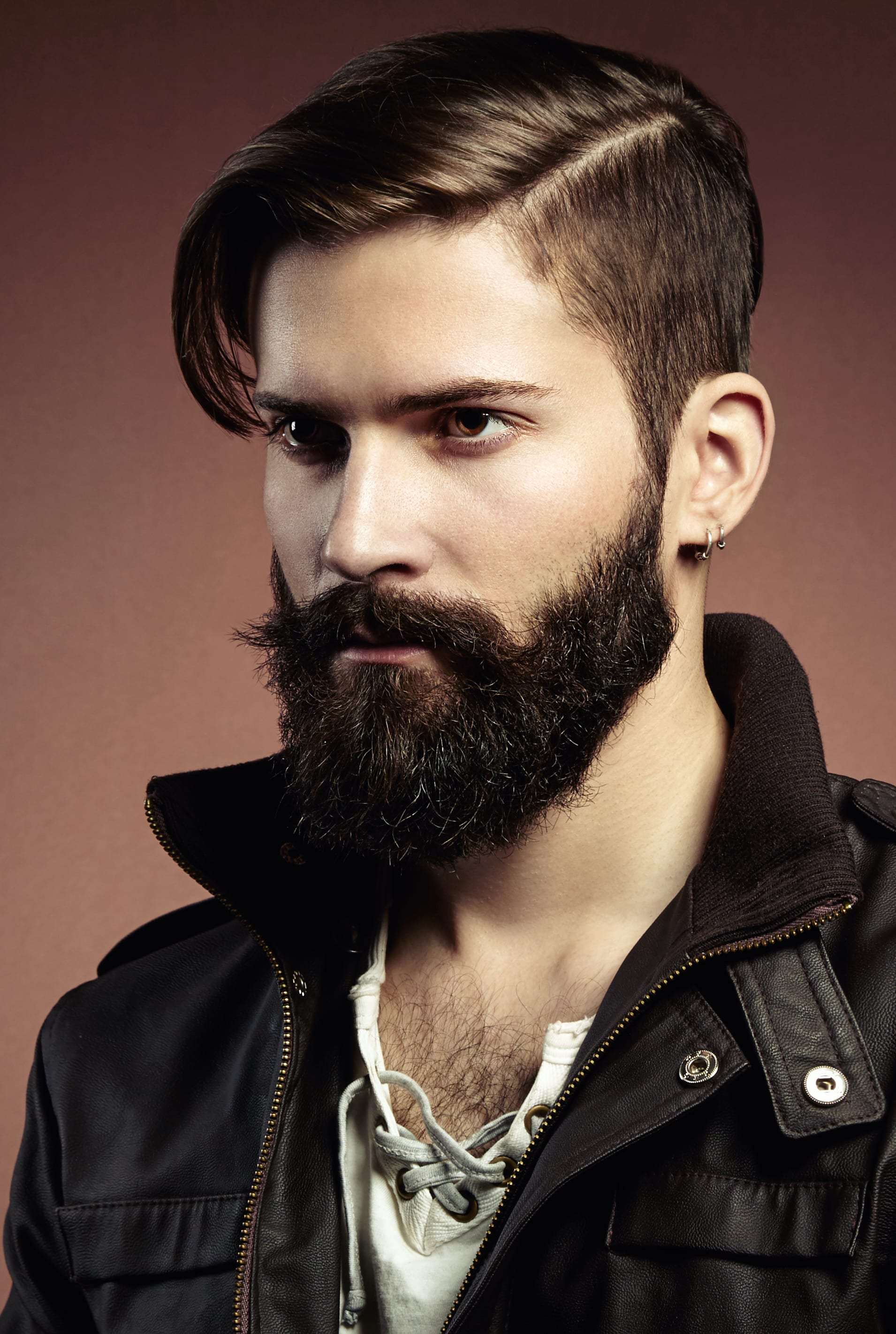 Hard Side Parted Top with Dense Tamed Beard