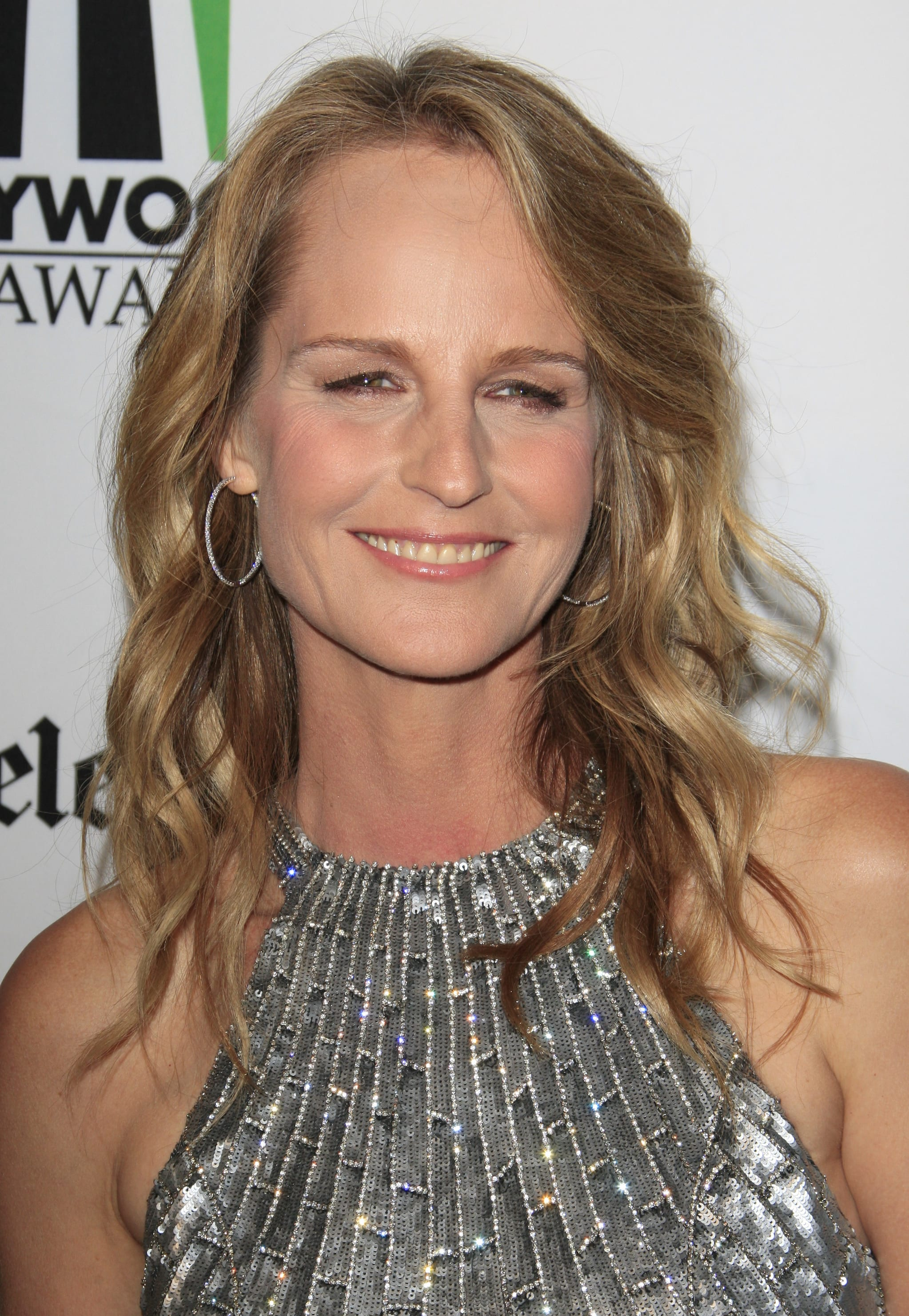 Helen Hunt's Wavy Long Layers and Side Part