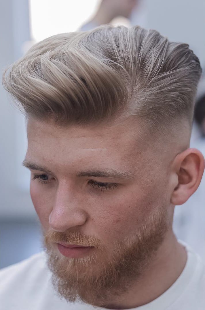 High Fade and Wavy Medium Top