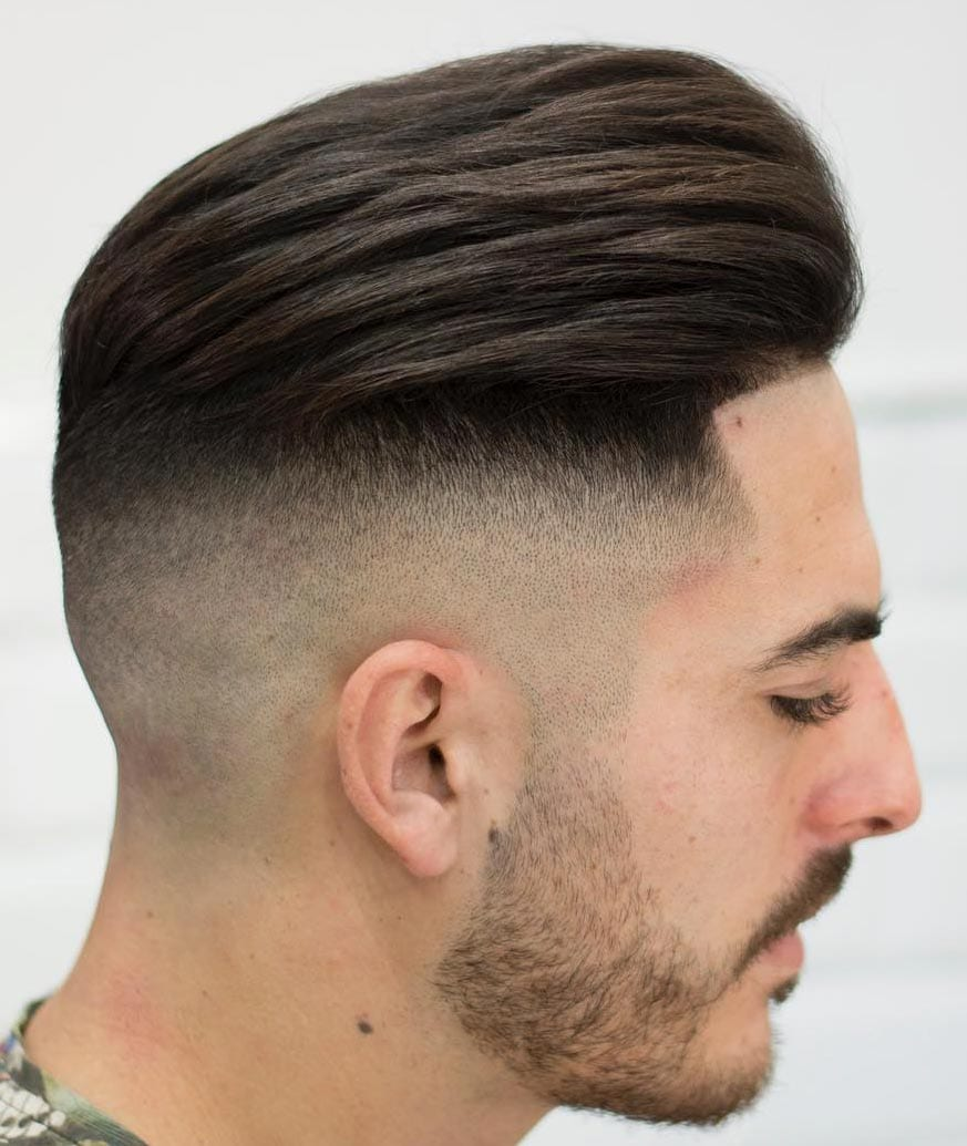 High Skin Fade with a Line Up