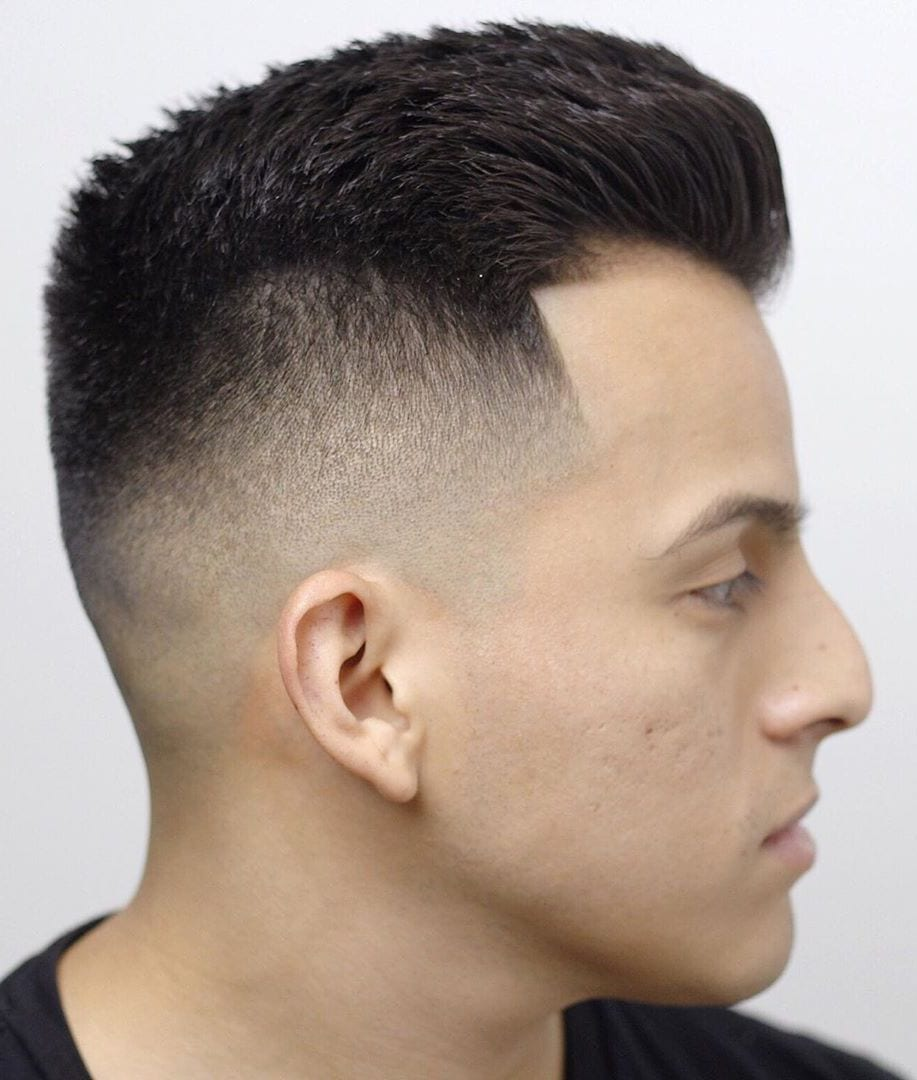 High Taper Fade with Side Swayed Top