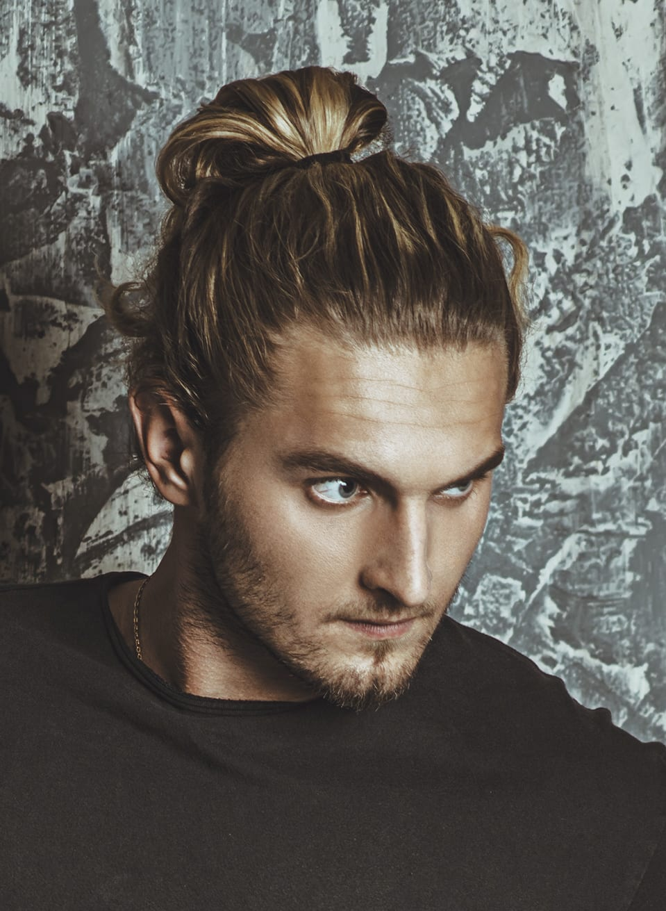 Highlighted Man Bun