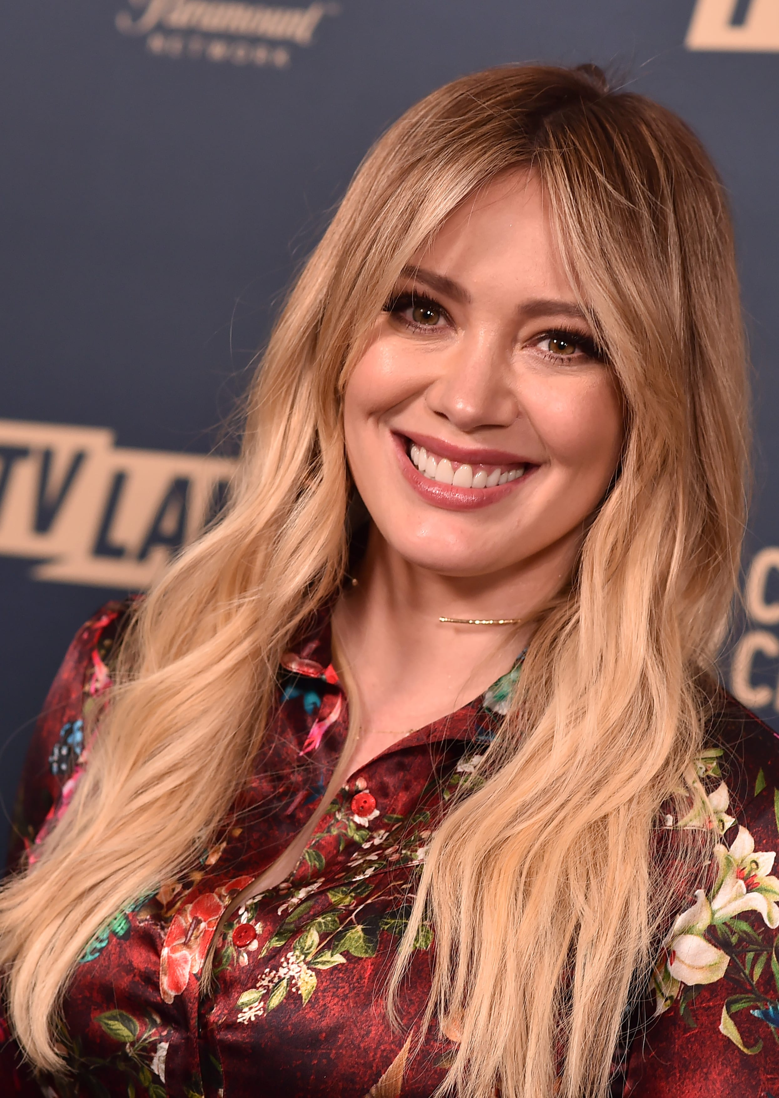 Hilary Duff With Golden Rose Balayage