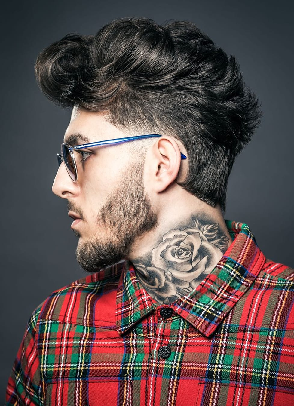 Hipster Faux Hawk with Glasses