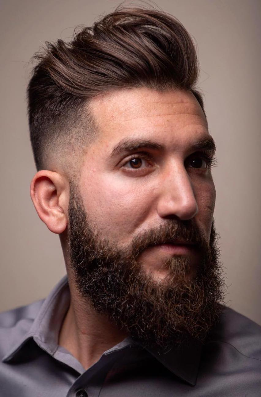 Informal Puffed Top with Balancing Beard