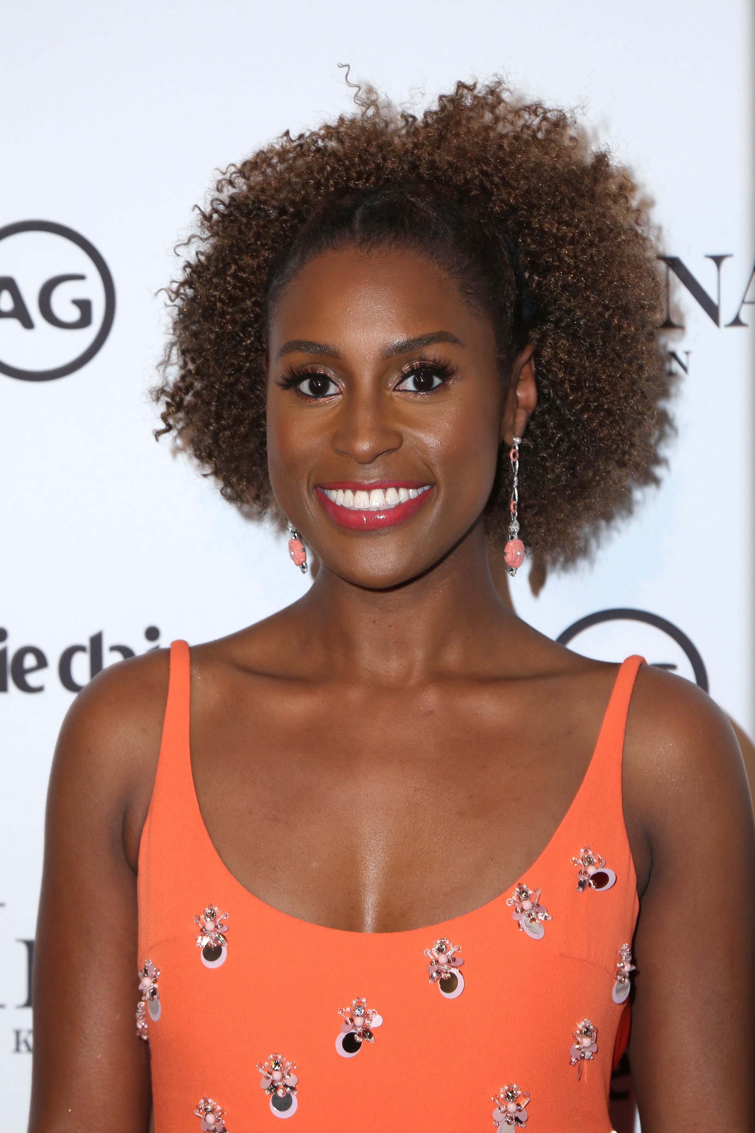 Issa Rae's Pulled-Back Round Afro