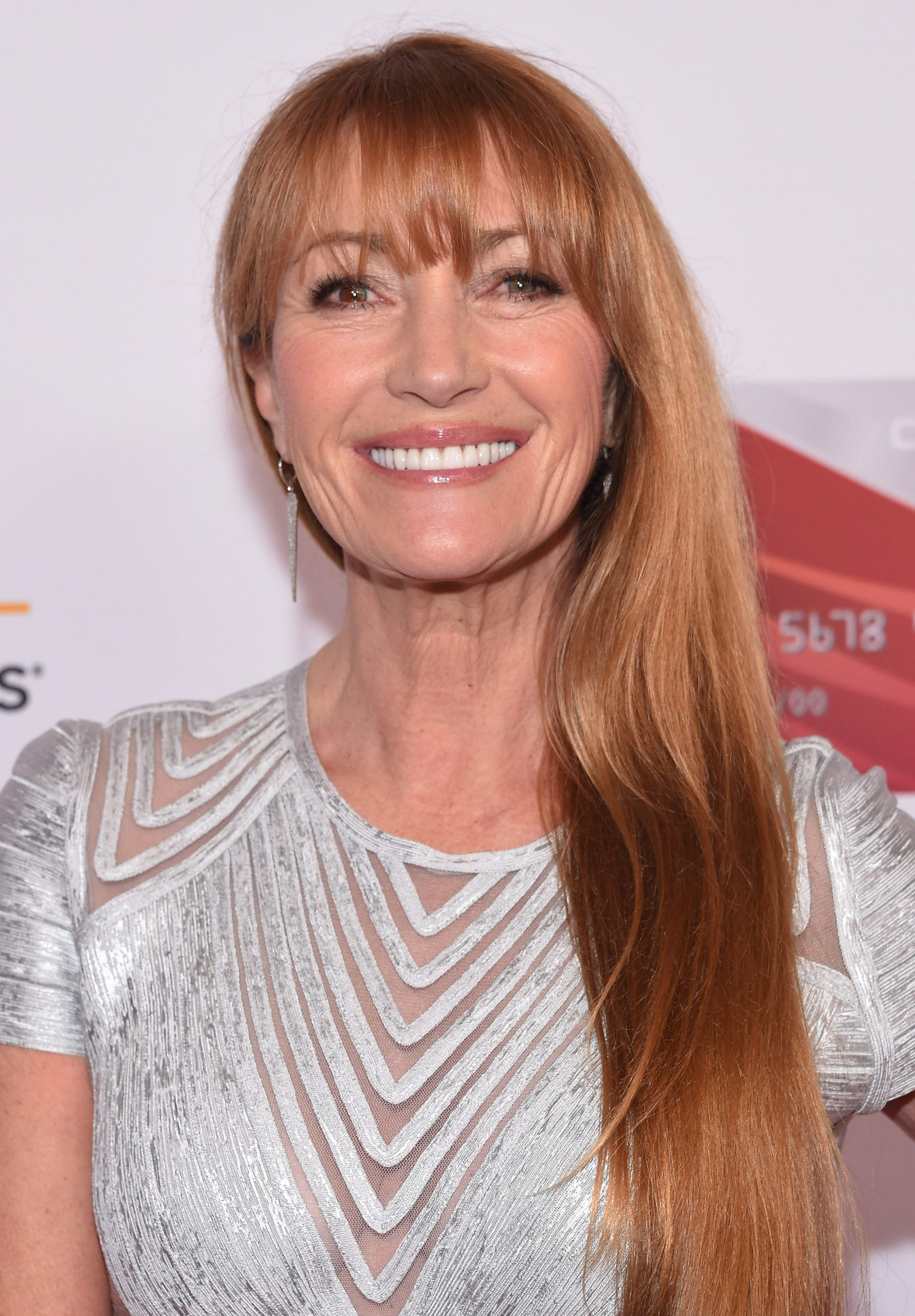 Jane Seymour's Classic Long Hair with Bangs