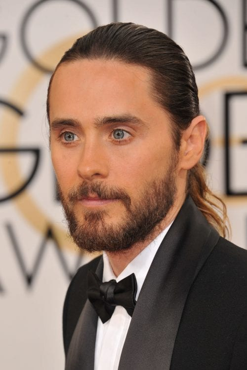 longer mens hair styles 100 best hairstyles for and boys the ultimate guide 4483 | Jared Leto by slicked back long hair Featureflash Photo Agency 500x750