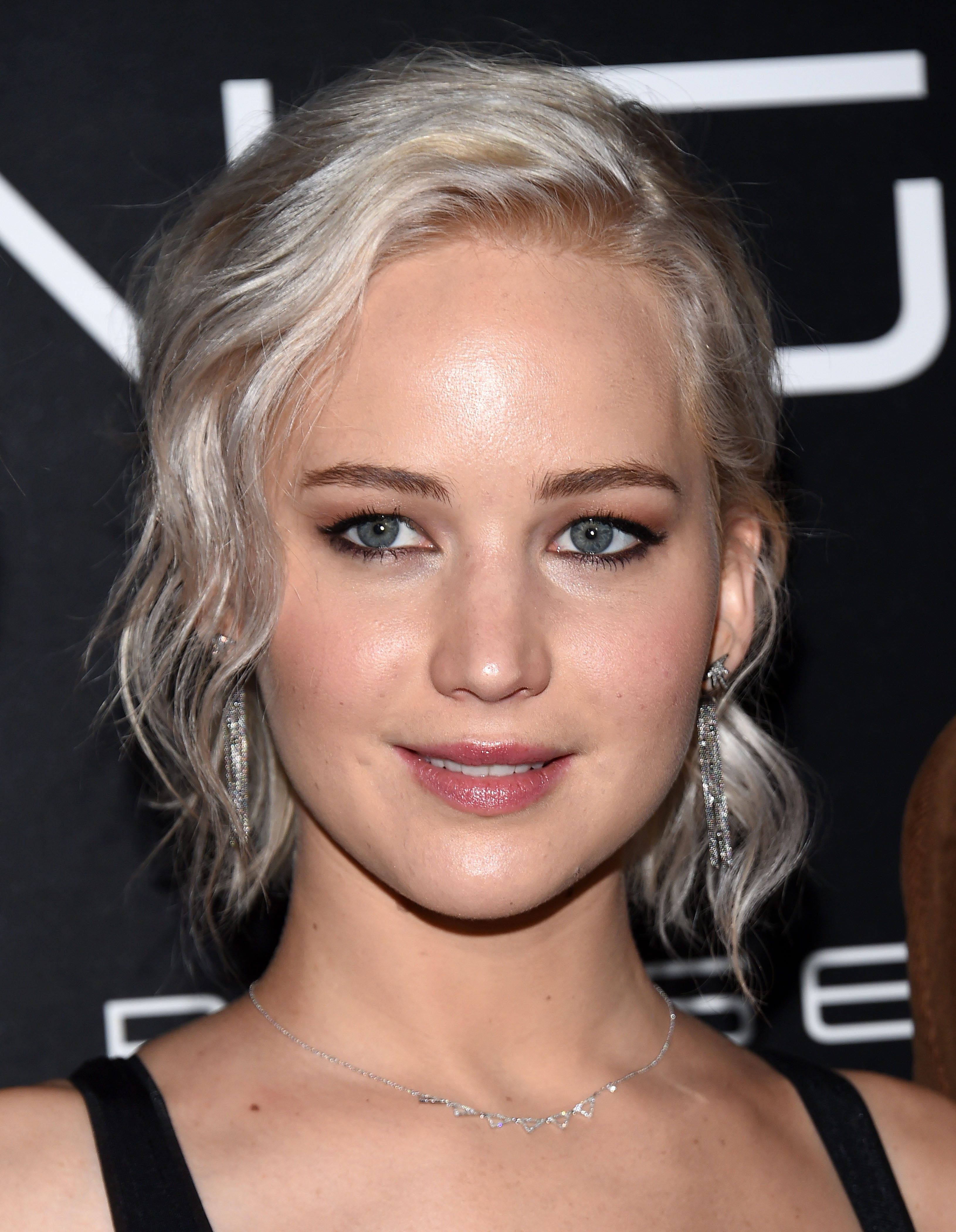 Jennifer Lawrence's Blonde Hair with Silver Highlights