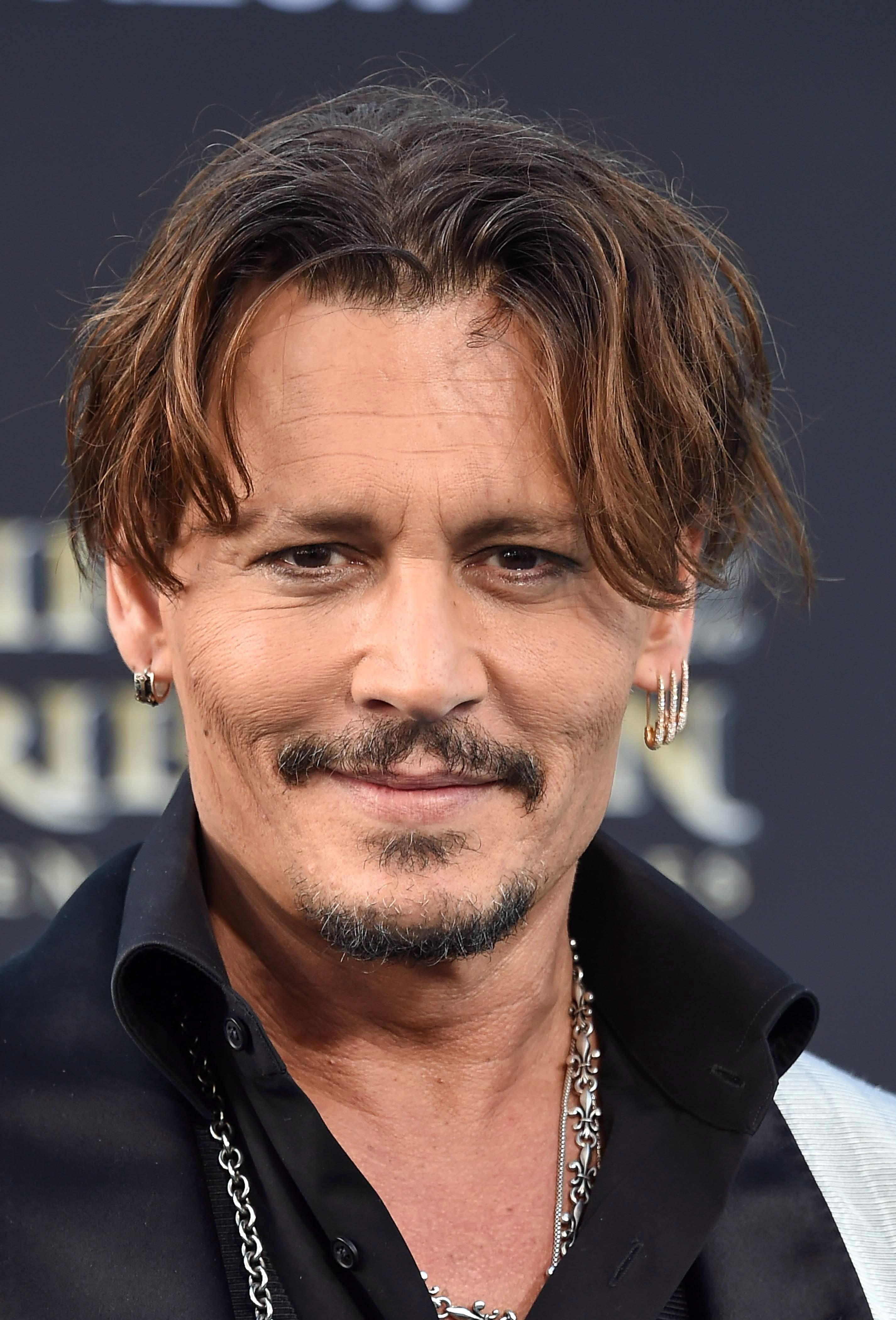 Johnny Depp's Curtain Hair