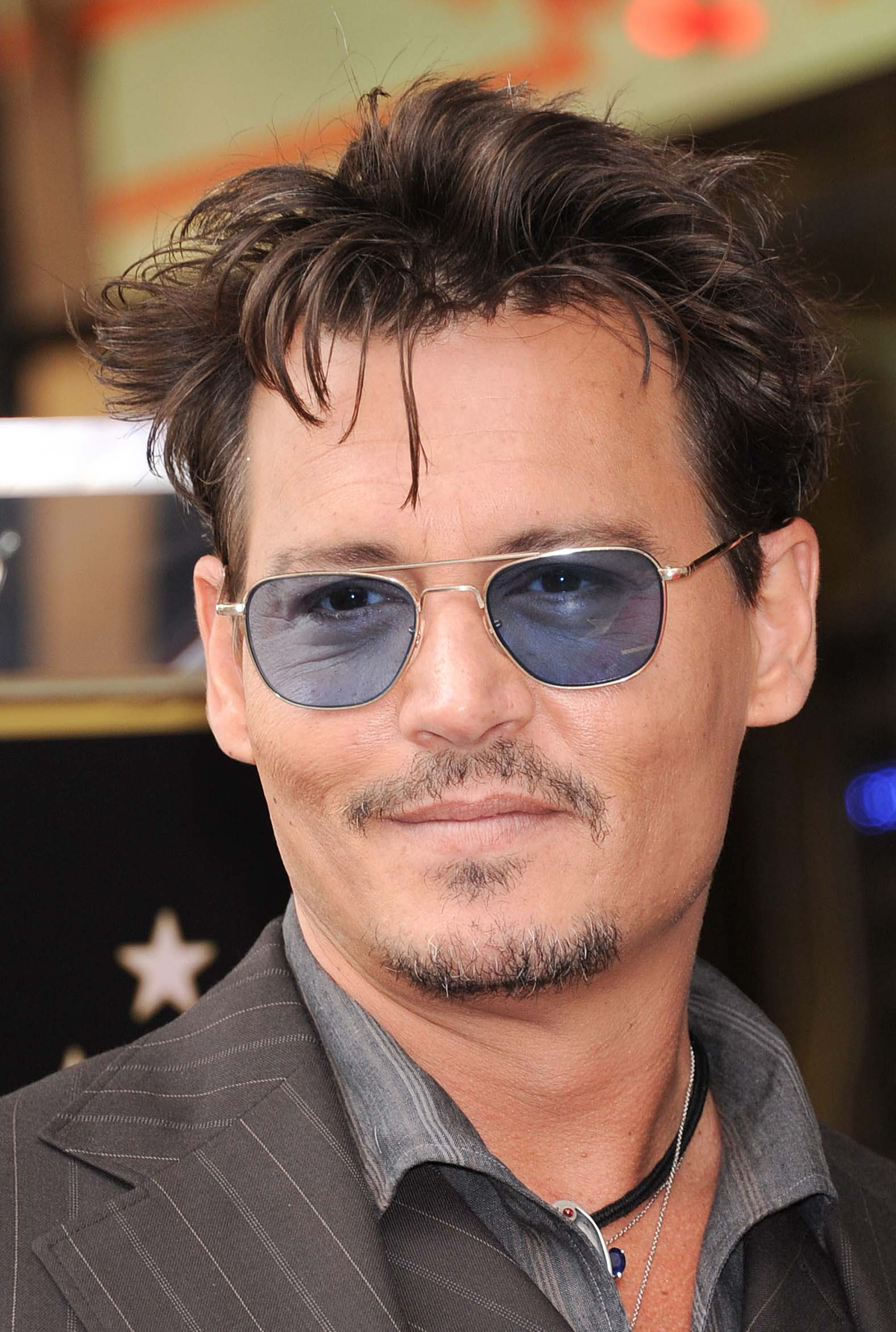 Johnny Depp's Messy Medium Top