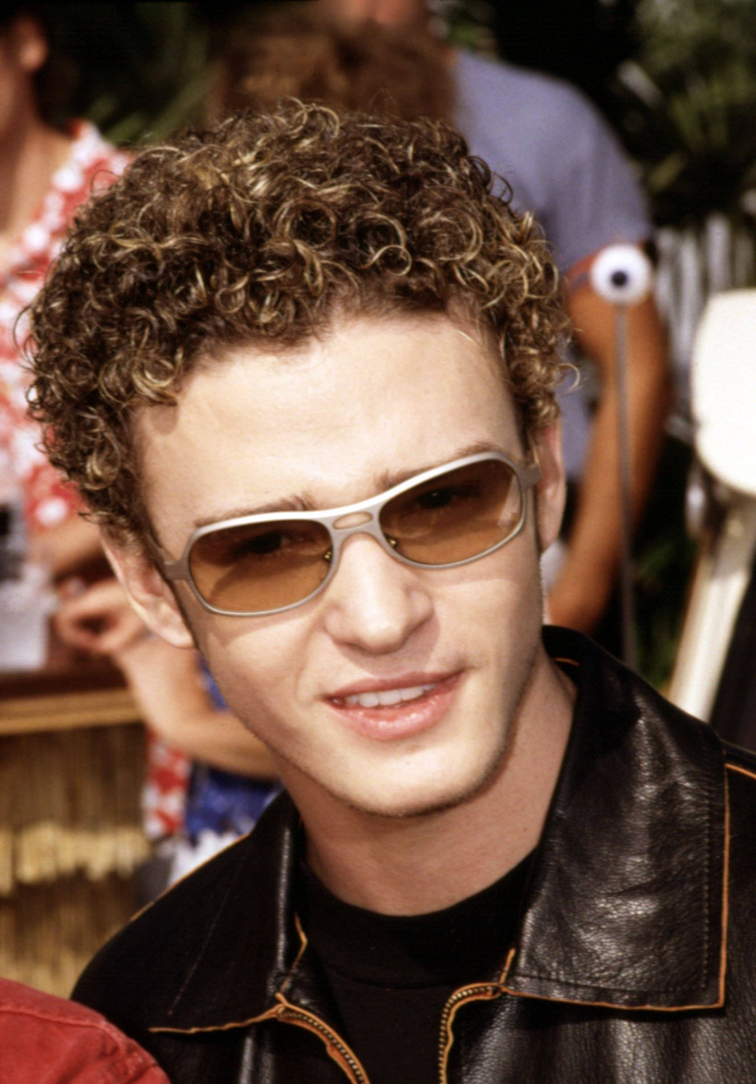 Justin Timberlake Bleached Curls