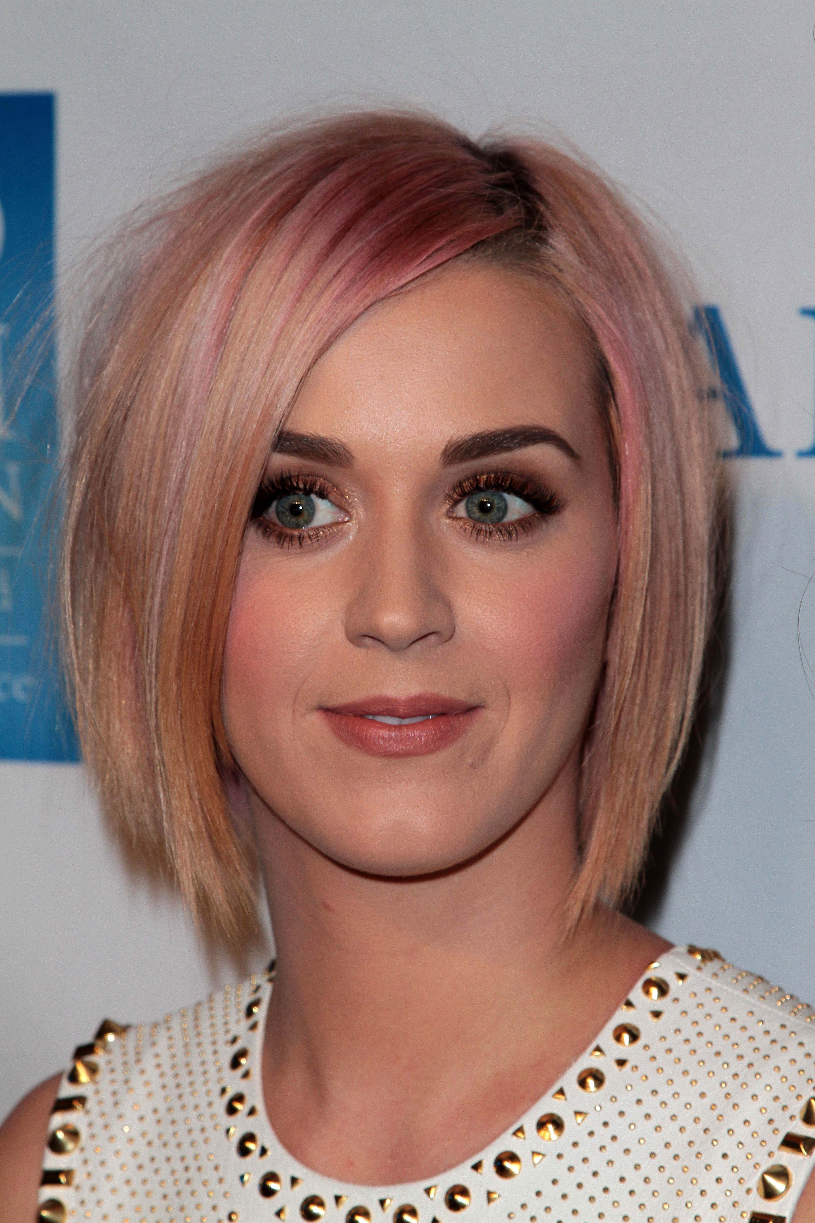 Katy Perry's Pink and Copper Bob