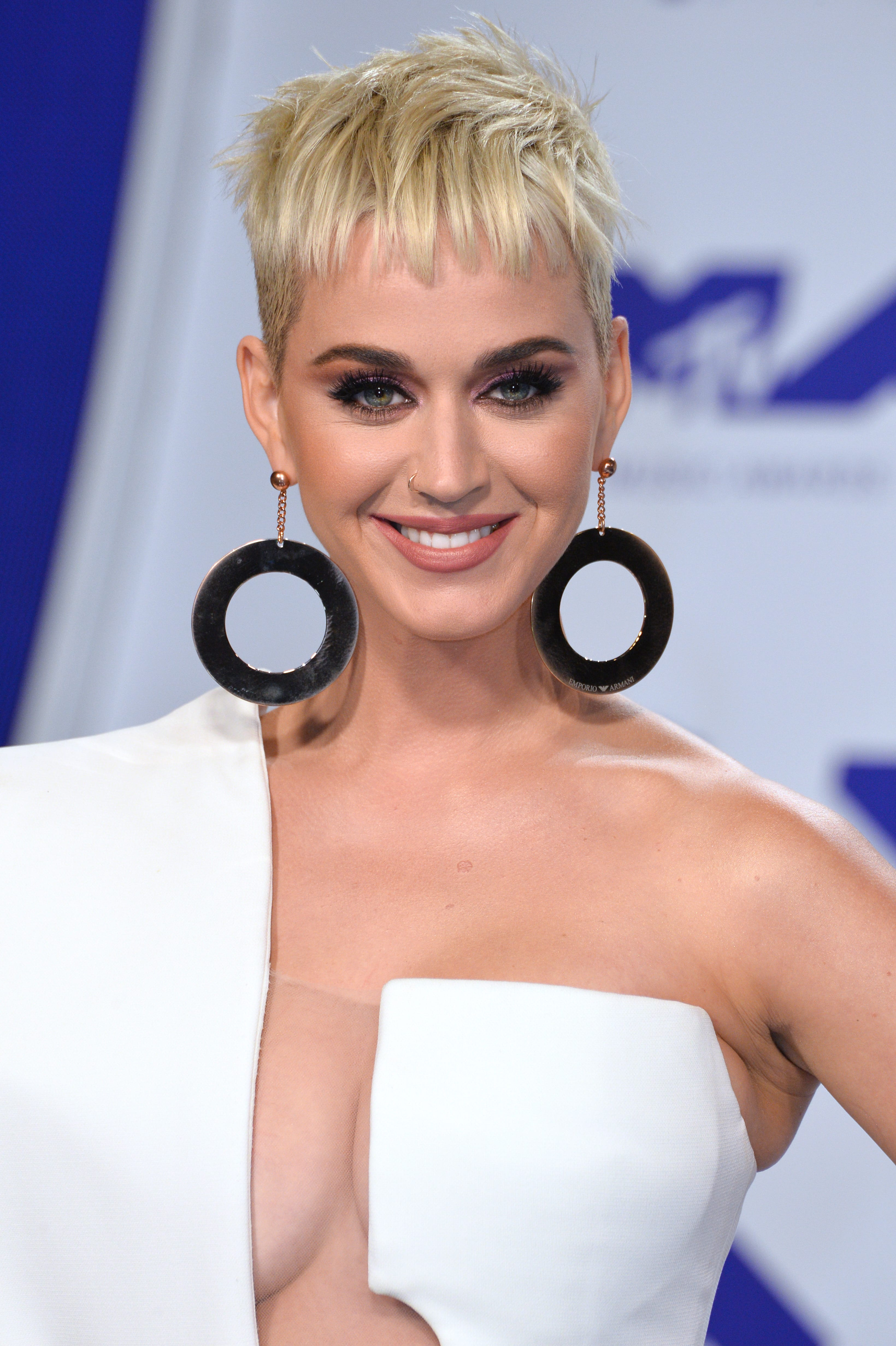 Katy Perry's Textured Pixie with Baby Bangs