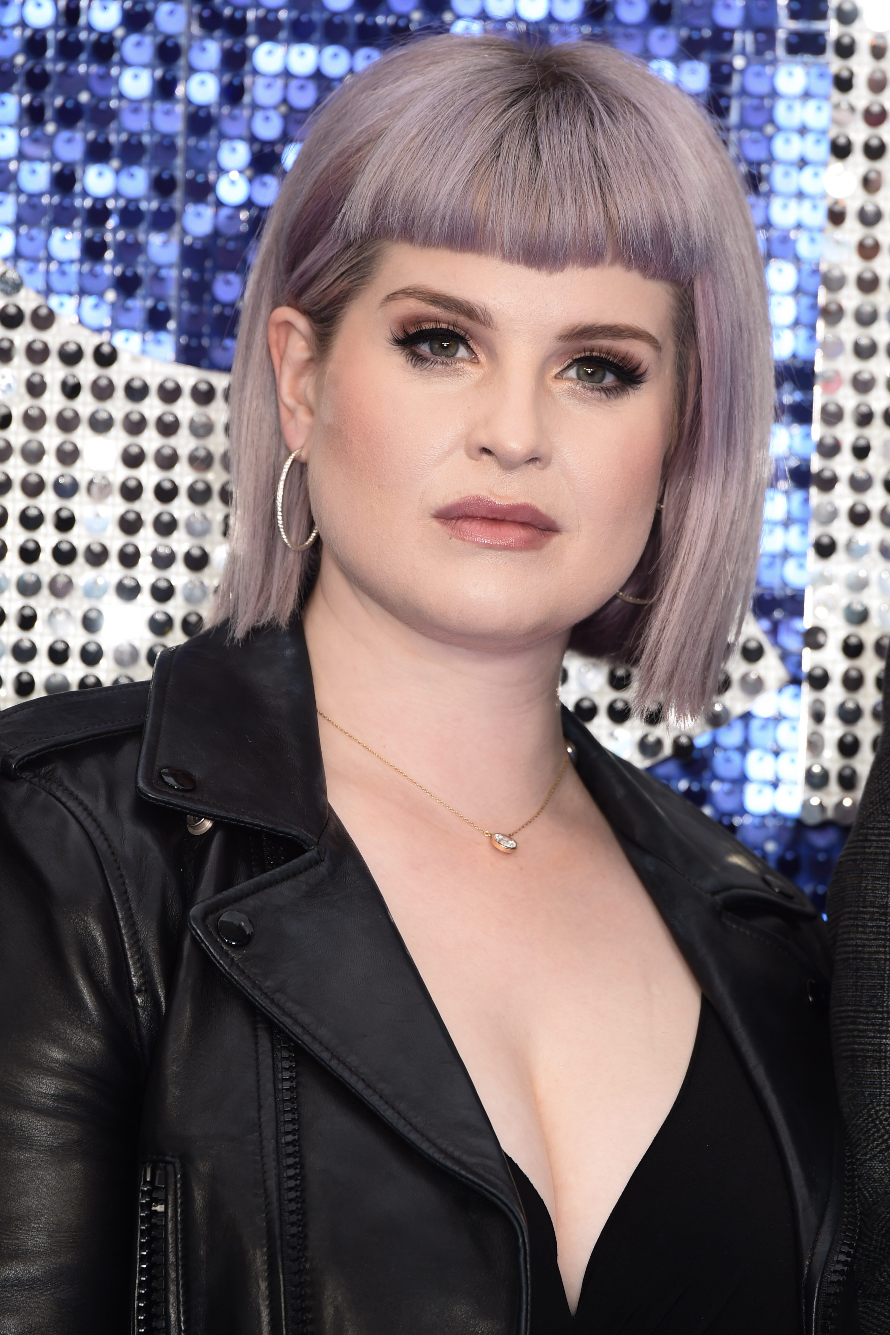 Kelly Osbourne's Purple and Gray Highlights