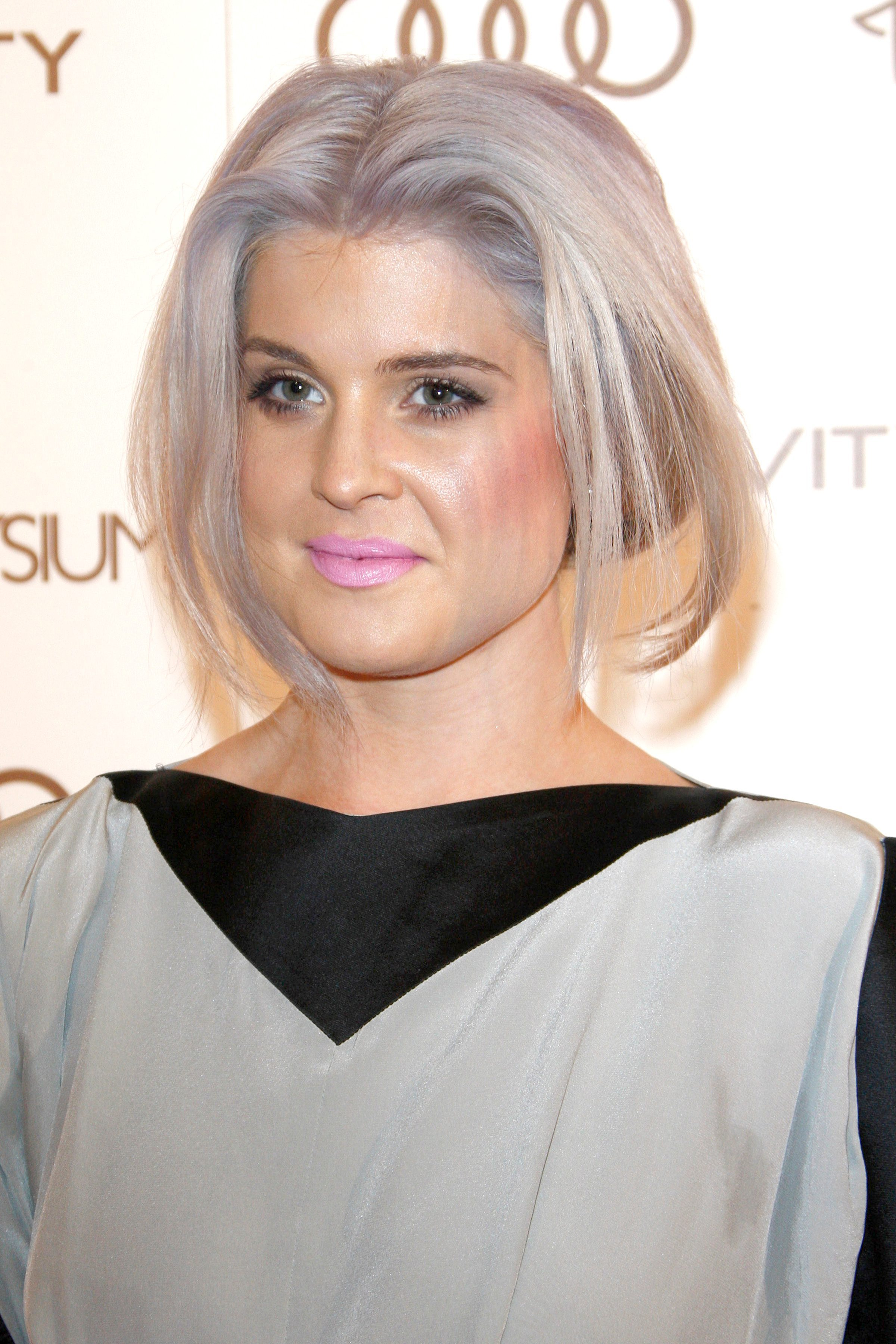 Kelly Osbourne's Silver Hair with Purple Highlights