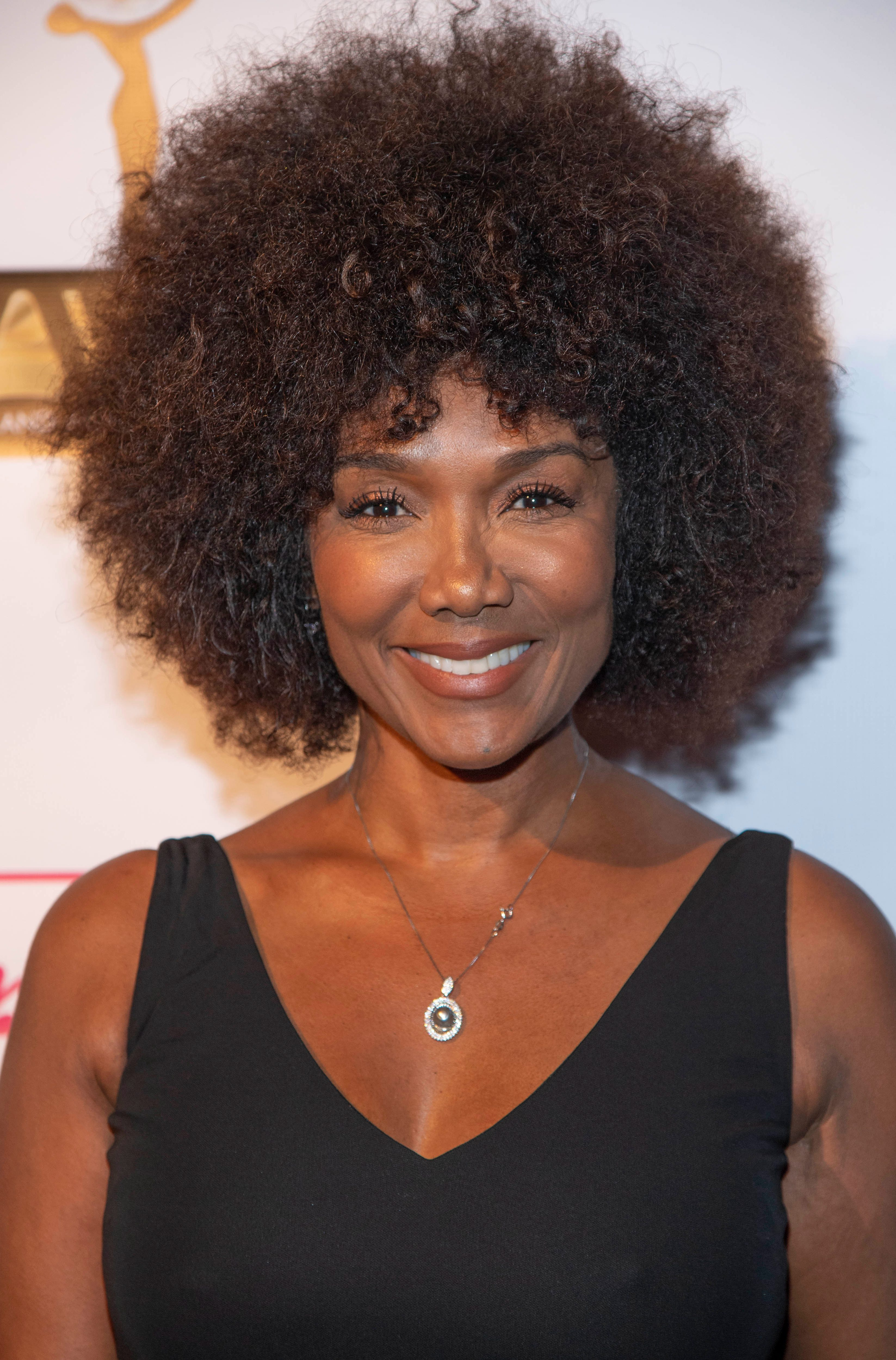 Kimberly Flaunting Her Afro Curled Crown
