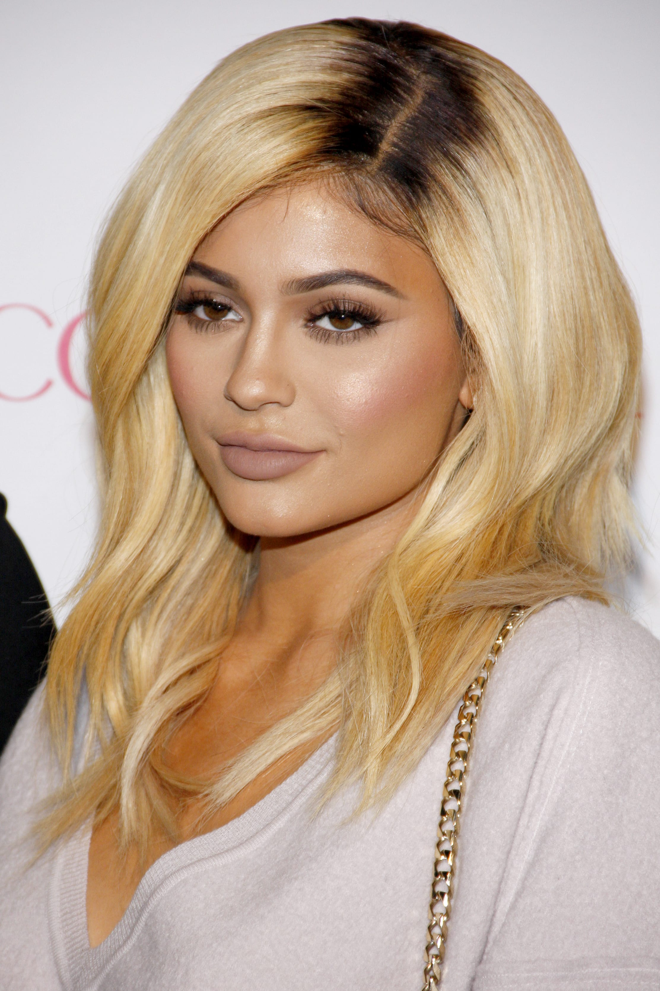 Kylie Jenner's Barbie Blonde with Dark Roots
