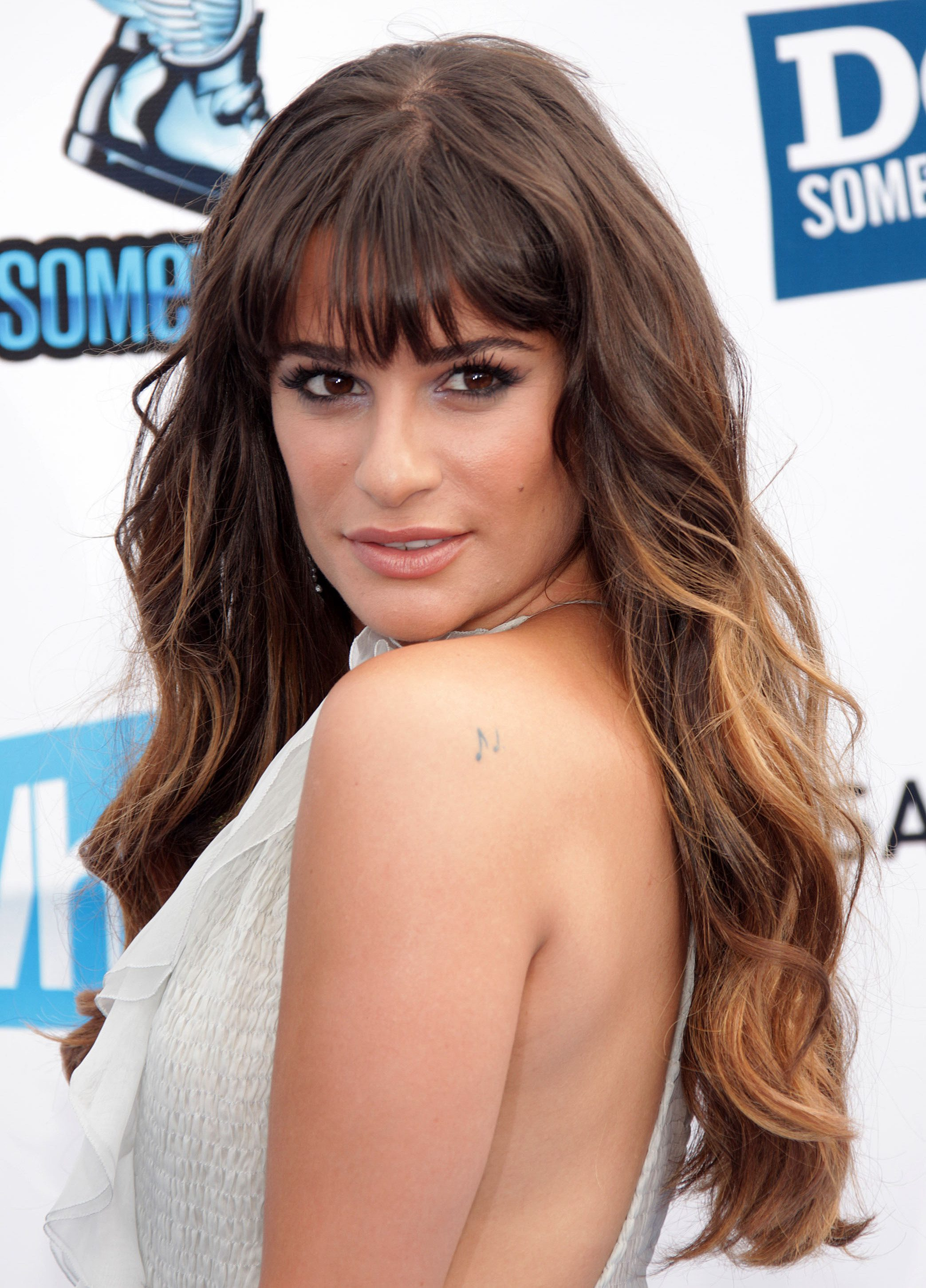 Lea Michele's Thick Wavy Look