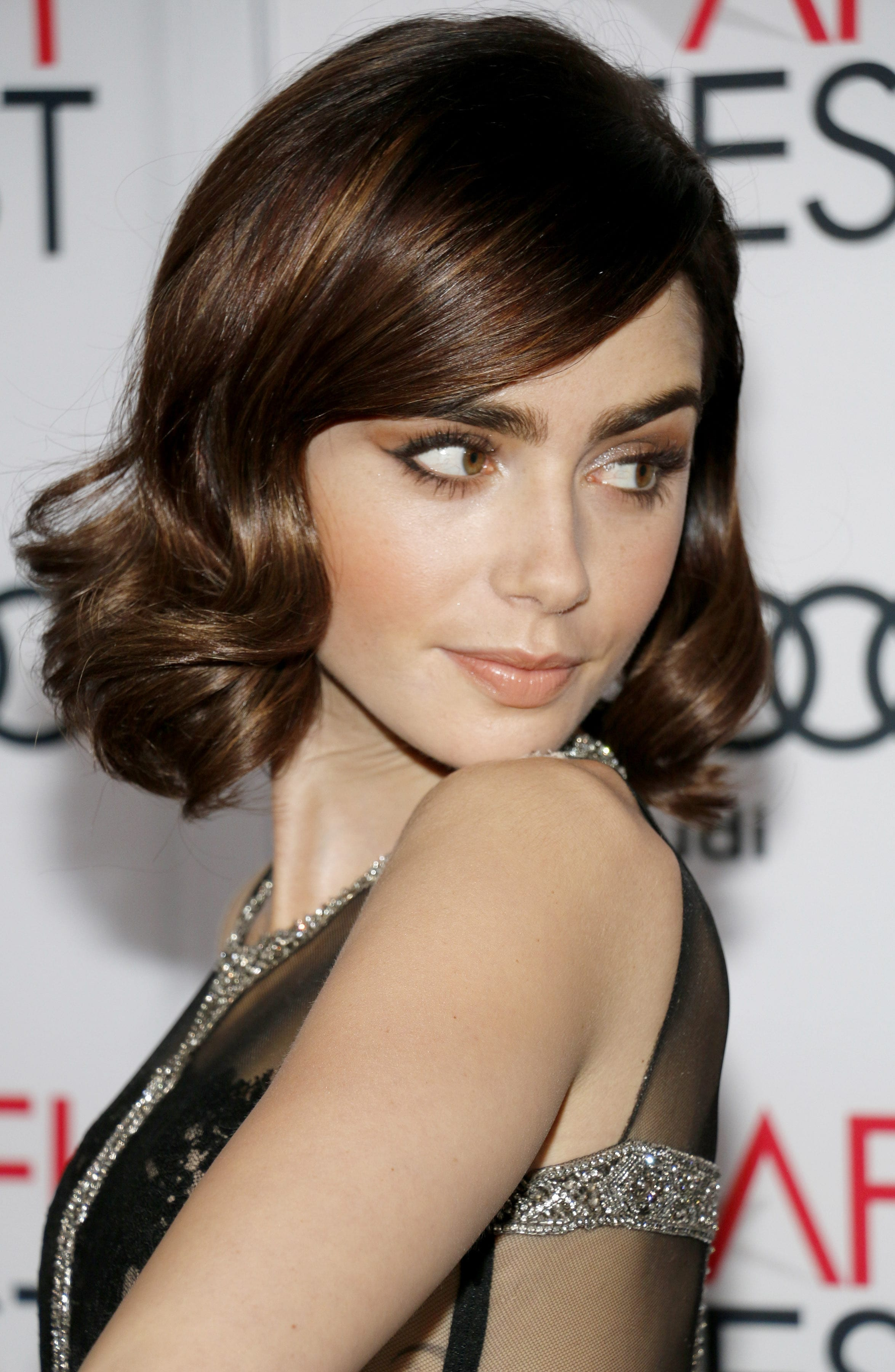 Lily Collins Beauty of Old Bob