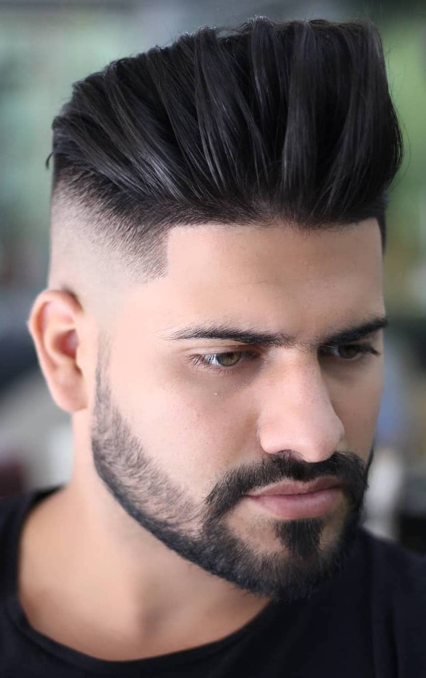 Line Up Taper Faded Pompadour