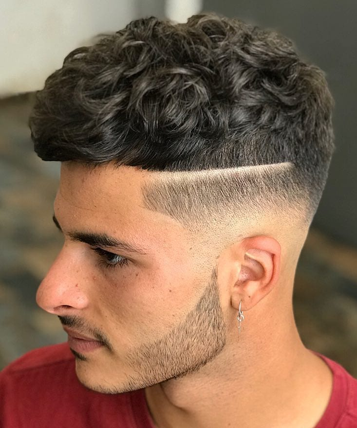 Long Curly French with Side Line Design