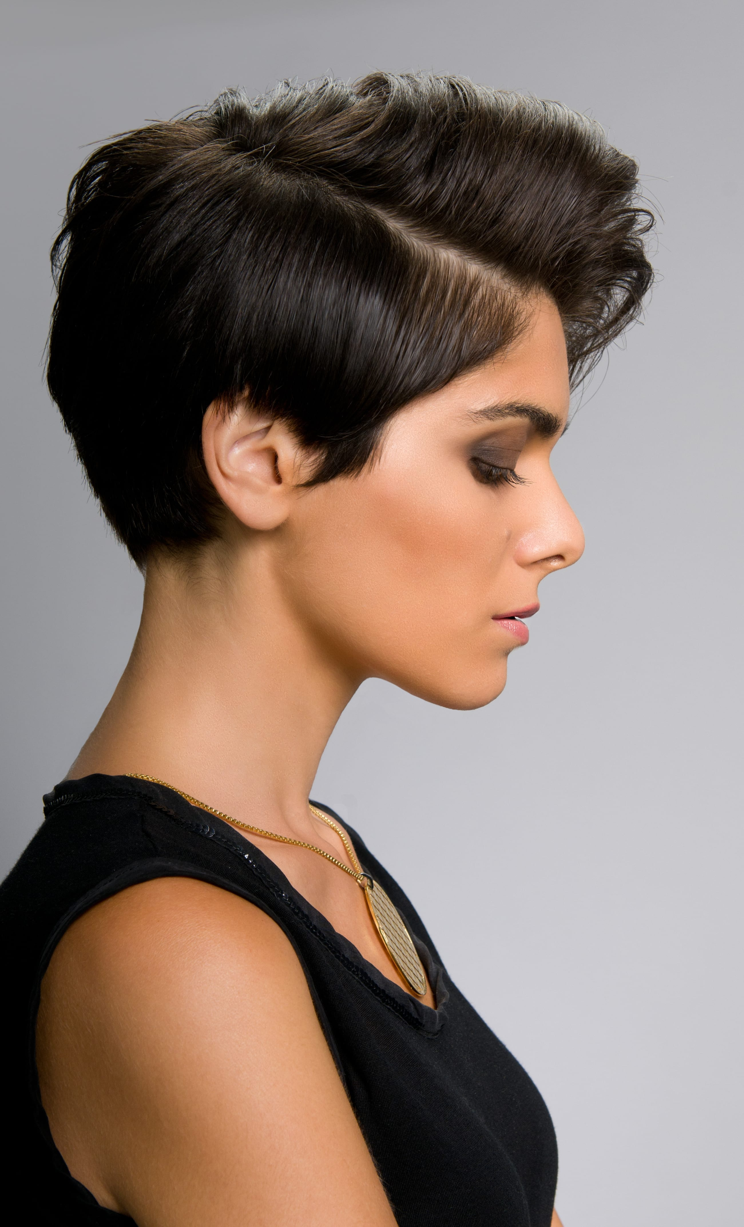 Long Layered Crop with Quiff