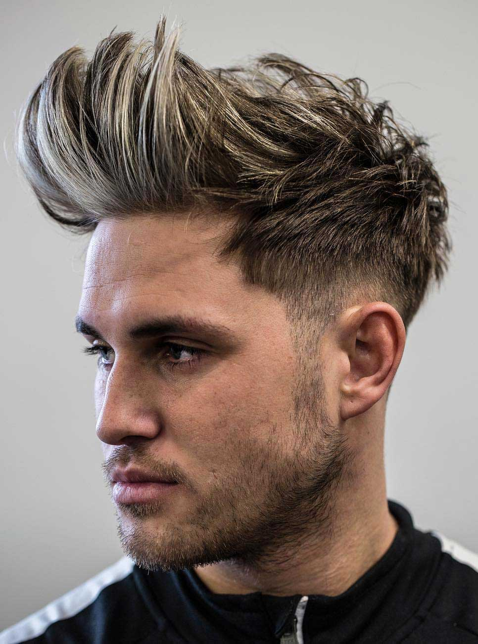 Longer Faux Hawk with Brushed Up Front